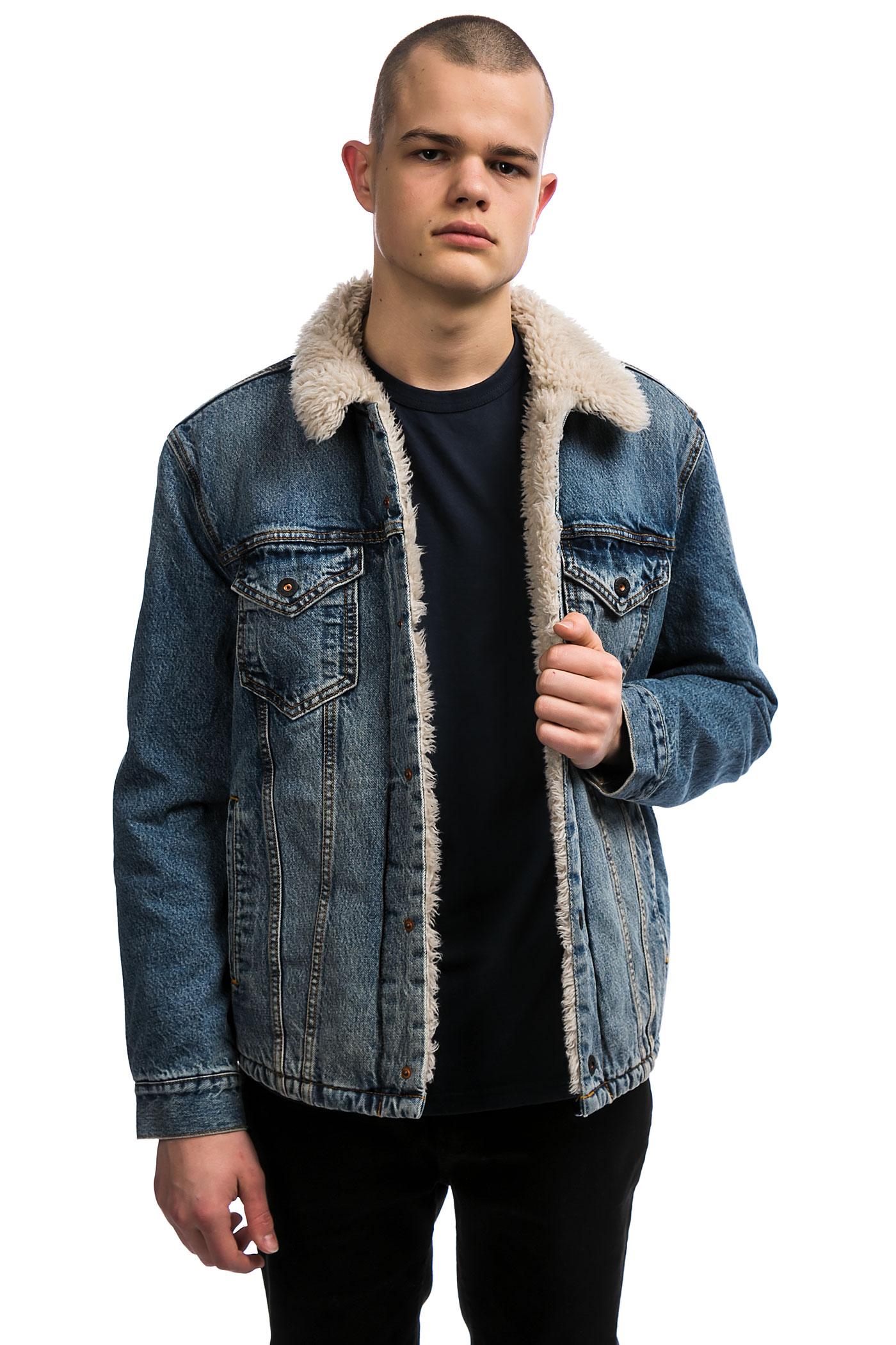levi 39 s skate sherpa trucker jacket kezar buy at skatedeluxe. Black Bedroom Furniture Sets. Home Design Ideas