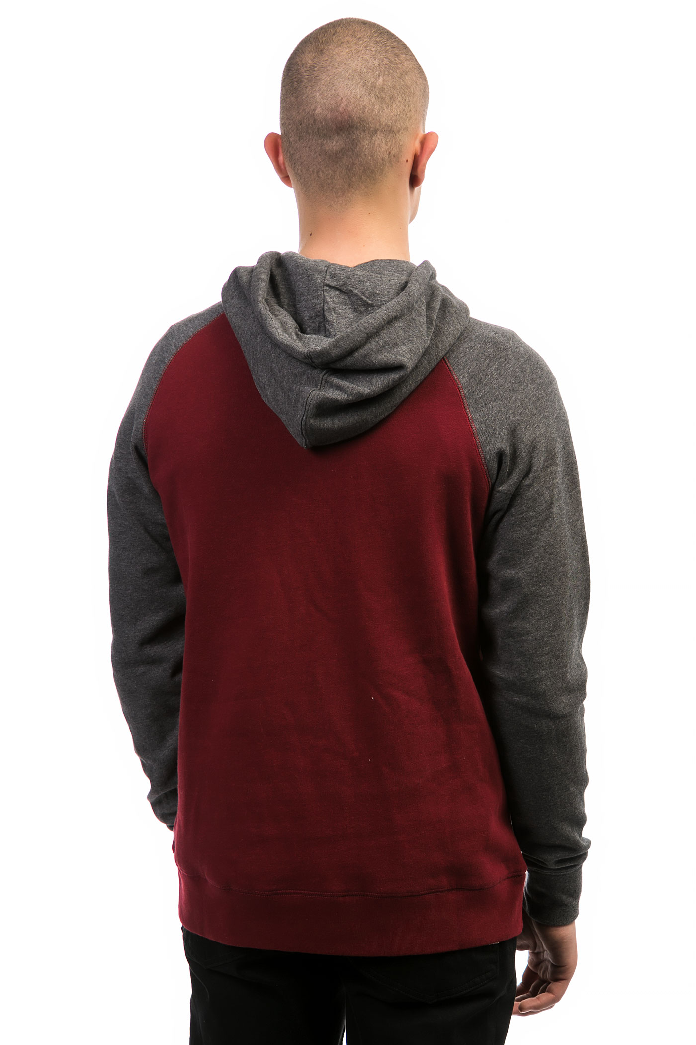 Grey and red hoodie