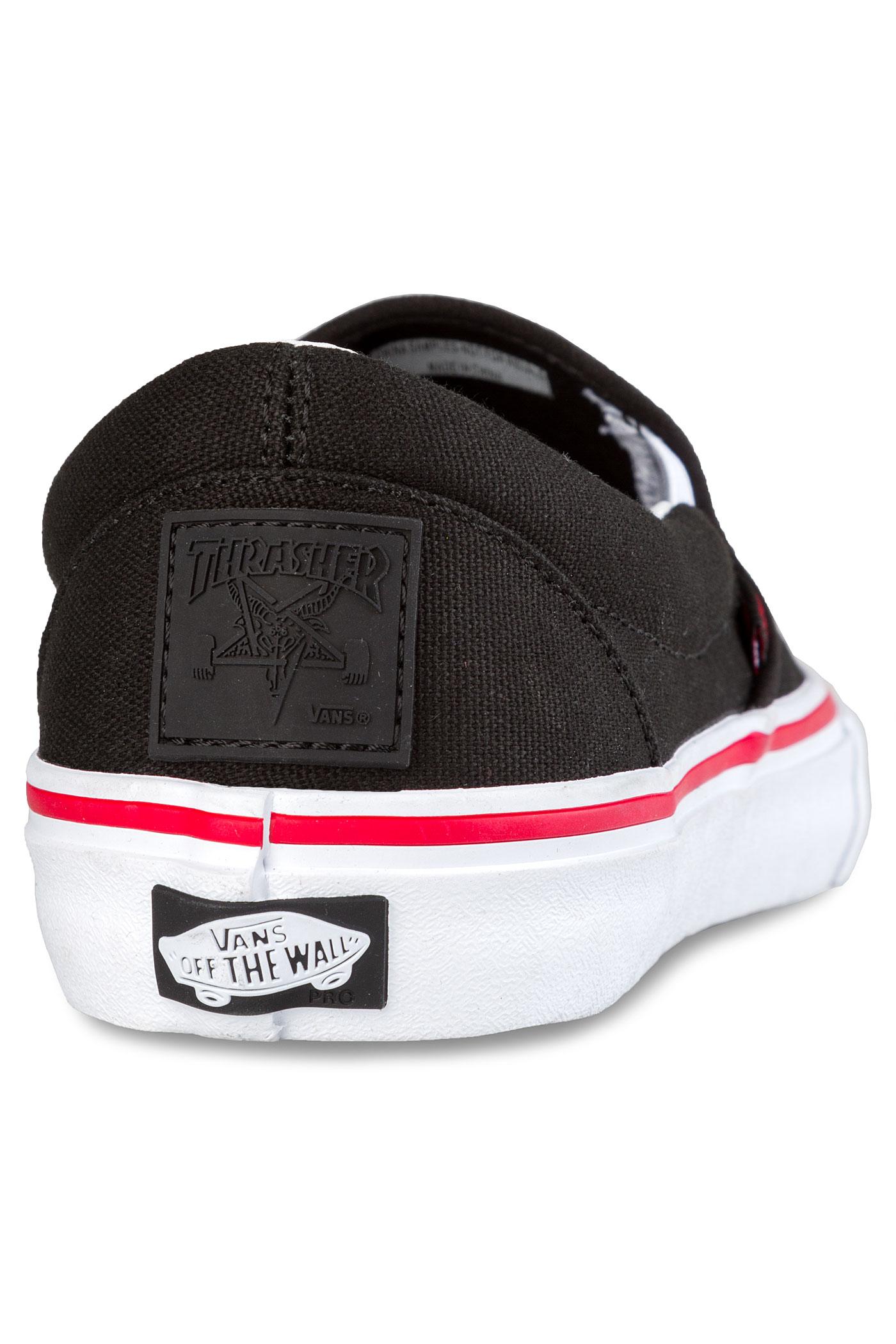 Vans x Thrasher Slip-On Pro Shoes (black) buy at skatedeluxe 9bc5058be