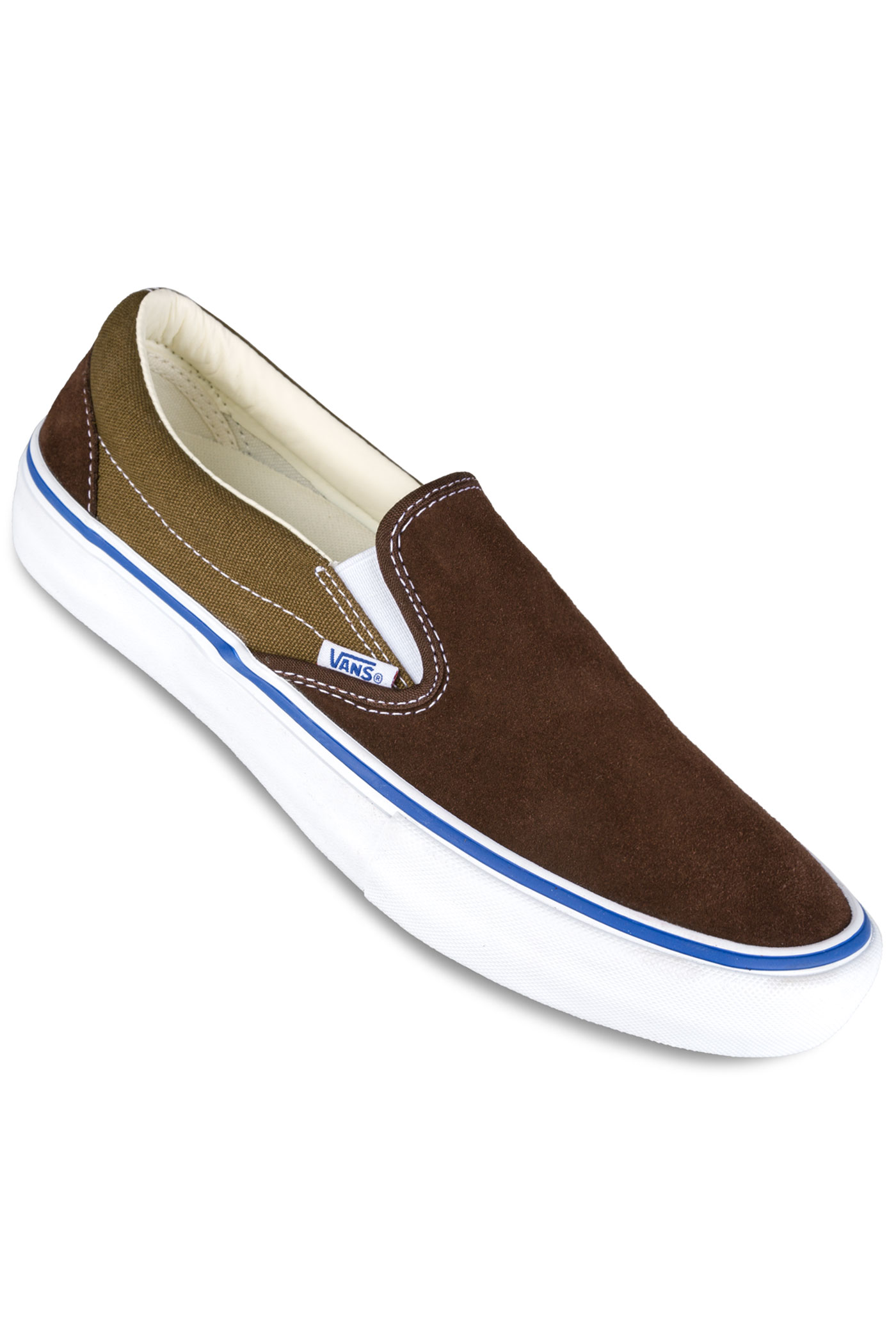 vans slip on pro chaussure coffee bean teak achetez sur skatedeluxe. Black Bedroom Furniture Sets. Home Design Ideas