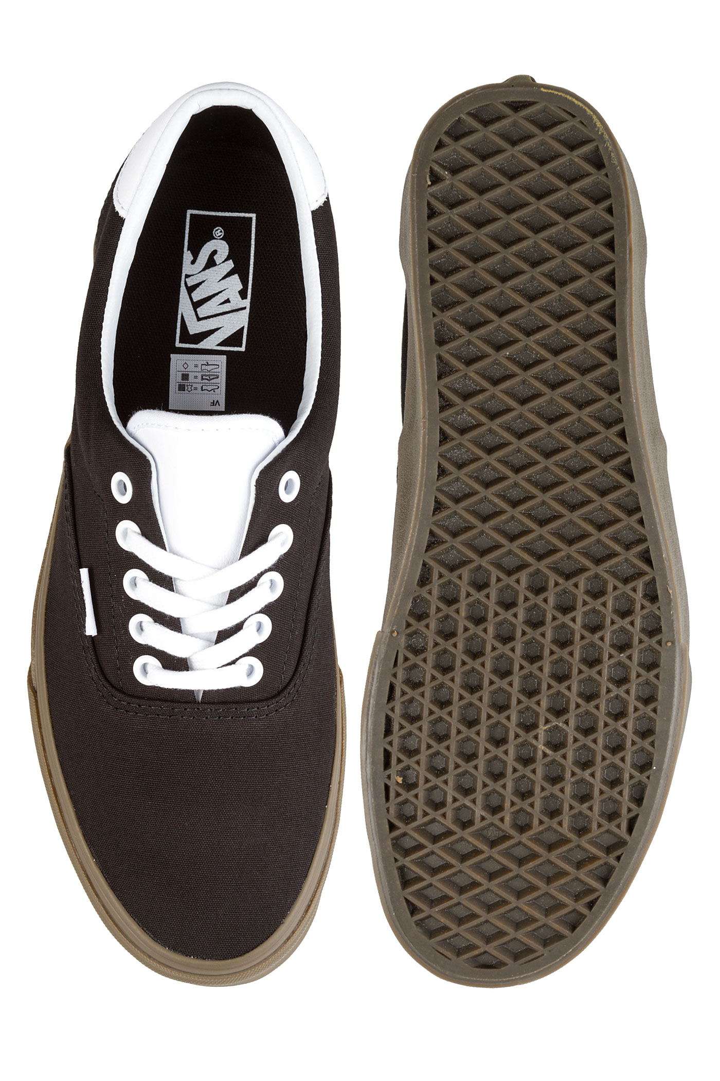 6c587a9726 Vans Bleacher Era 59 Shoes (black gum) buy at skatedeluxe