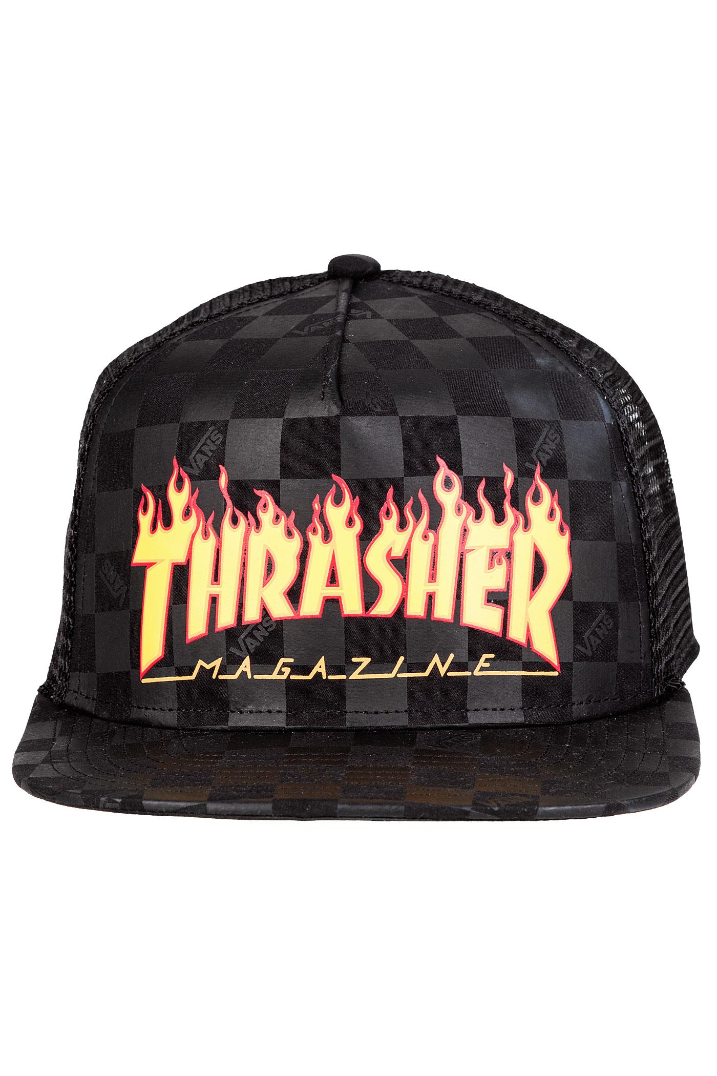33e060c4b2d Vans x Thrasher Trucker Cap (black) buy at skatedeluxe
