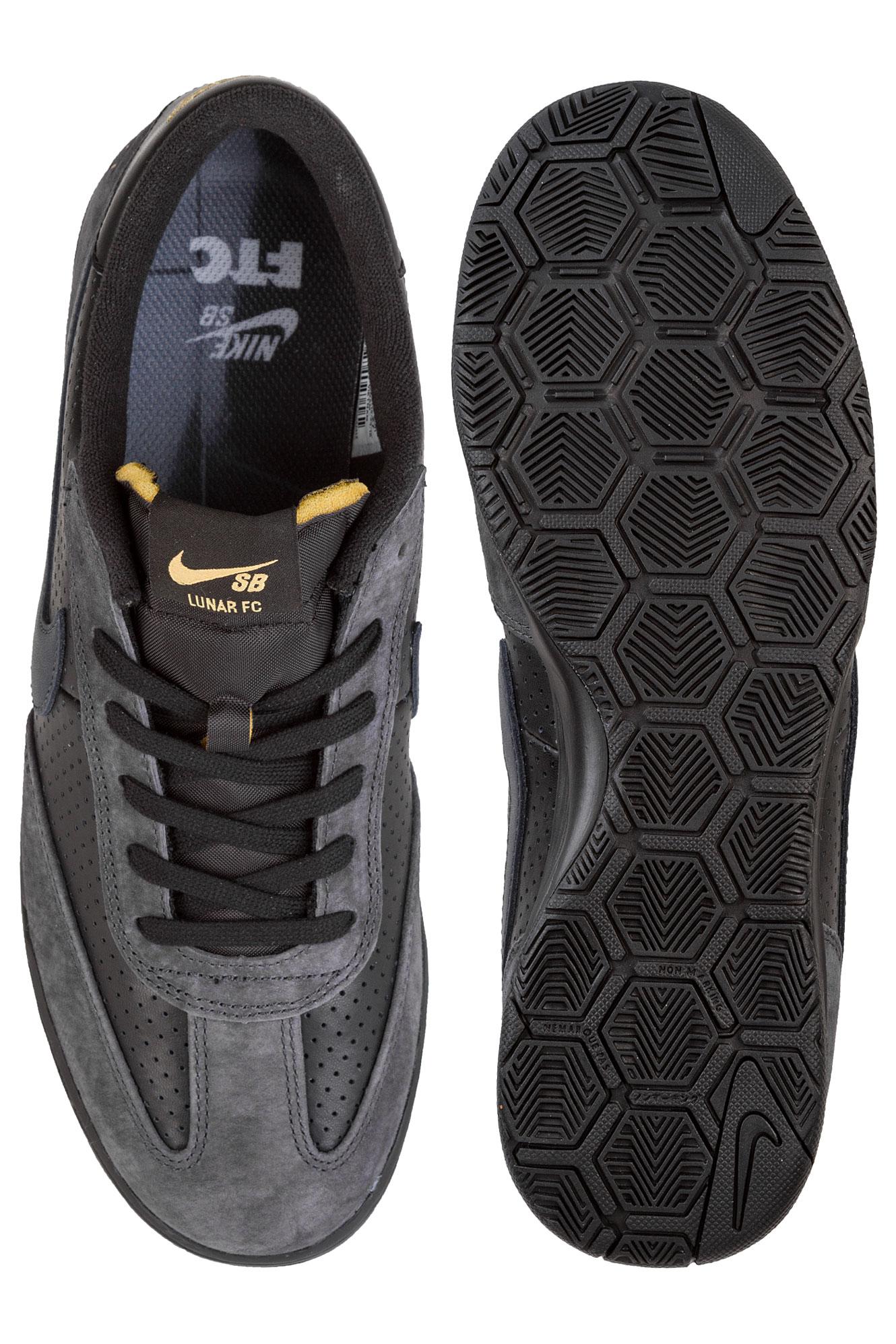 451ee4739f7c Nike SB x FTC Lunar FC Shoes (black anthracite metallic gold) ...