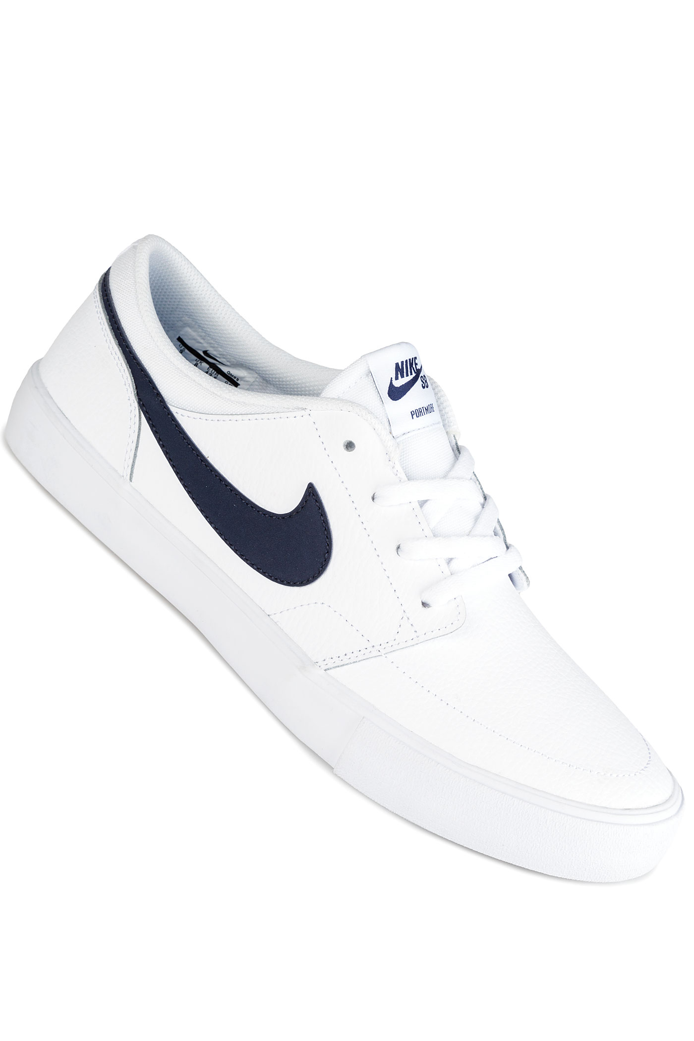 nike sb solarsoft portmore ii premium shoes white obsidian buy at skatedeluxe. Black Bedroom Furniture Sets. Home Design Ideas
