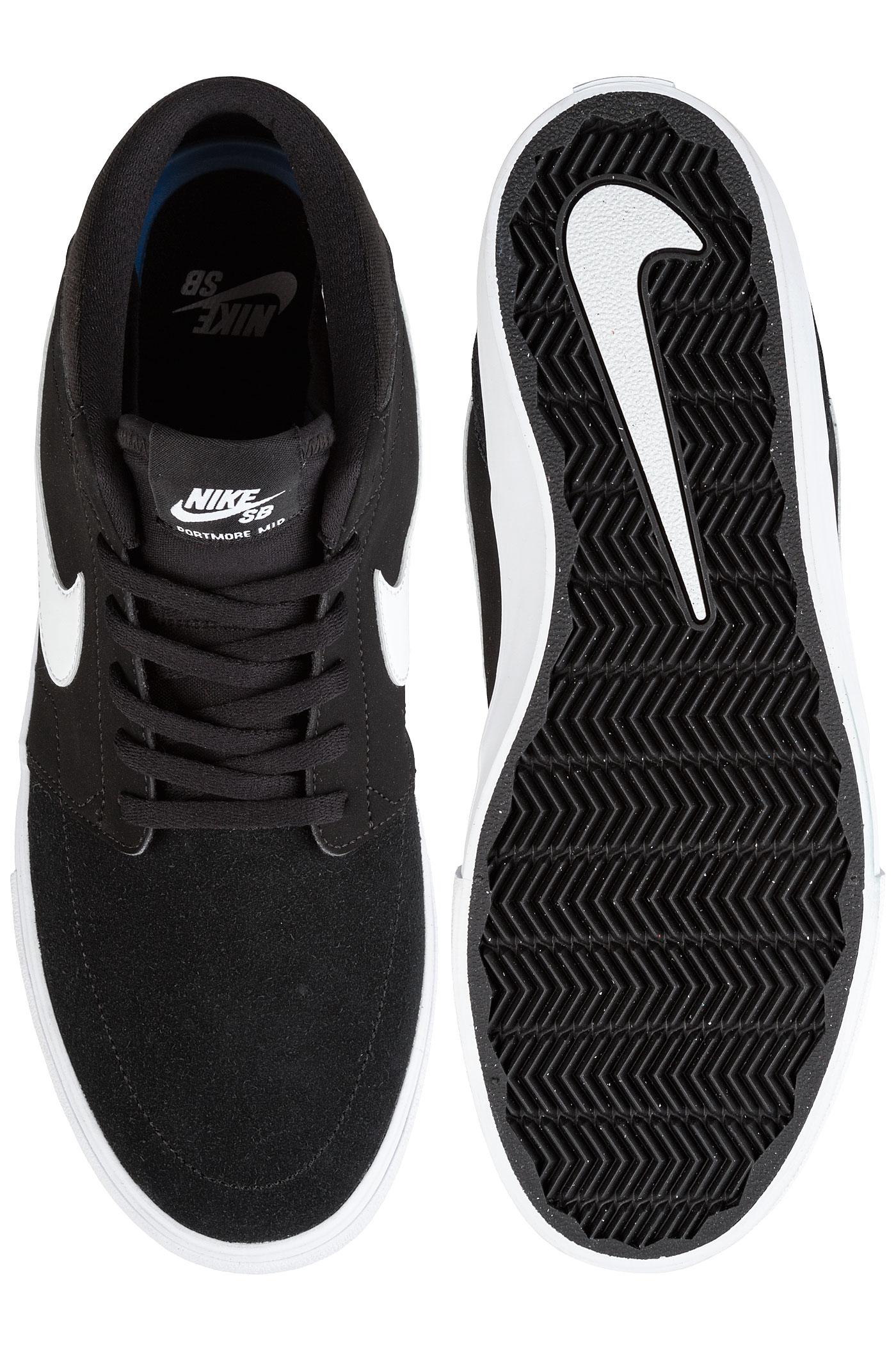 Mid Sb Nike White Solarsoft Portmore Ii Chaussureblack n0wP8kXNO
