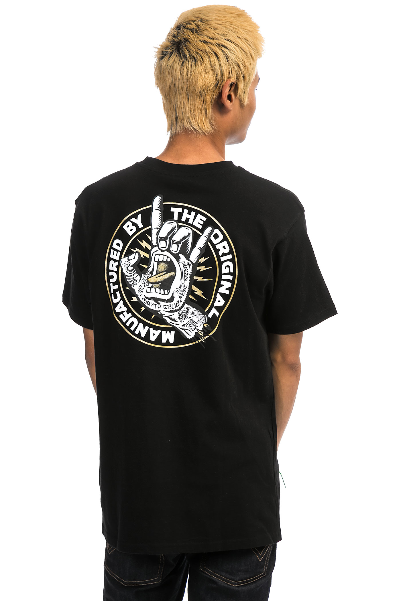 T black shirt rock -  Santa Cruz Rock Tattoo Hand T Shirt Black