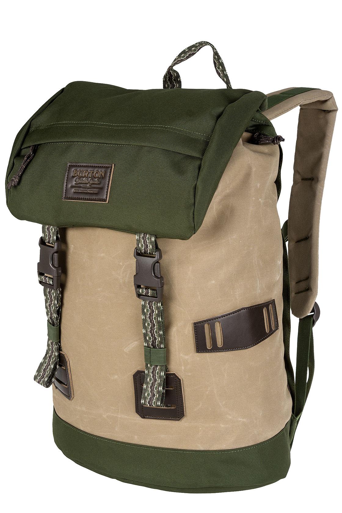 burton tinder backpack 25l kelp coated buy at skatedeluxe. Black Bedroom Furniture Sets. Home Design Ideas