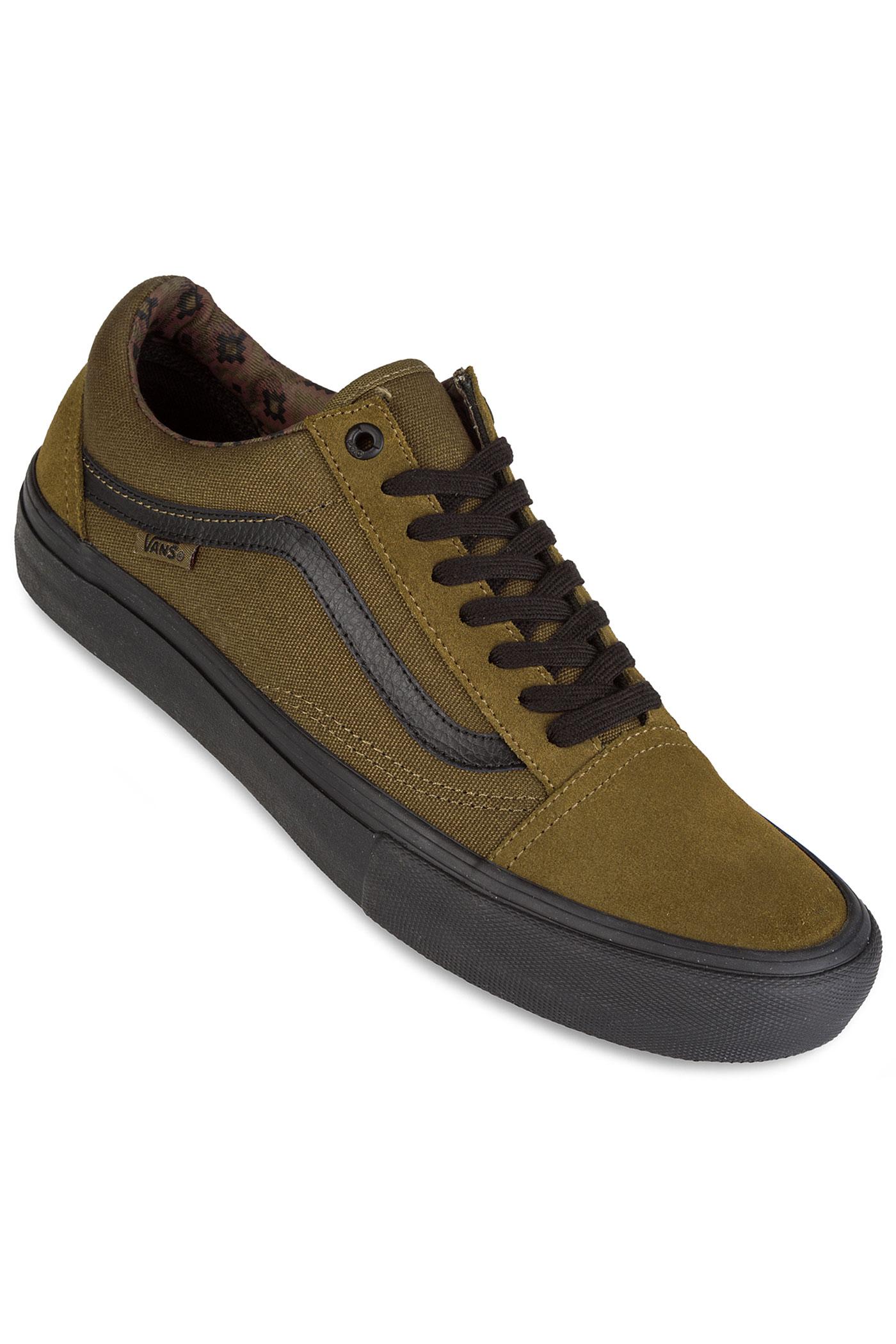 vans old skool pro chaussure teak black achetez sur skatedeluxe. Black Bedroom Furniture Sets. Home Design Ideas