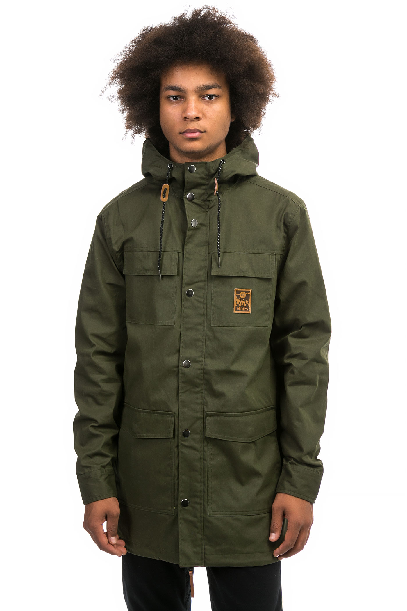 Etnies Manchester Parka Jacket (olive) buy at skatedeluxe