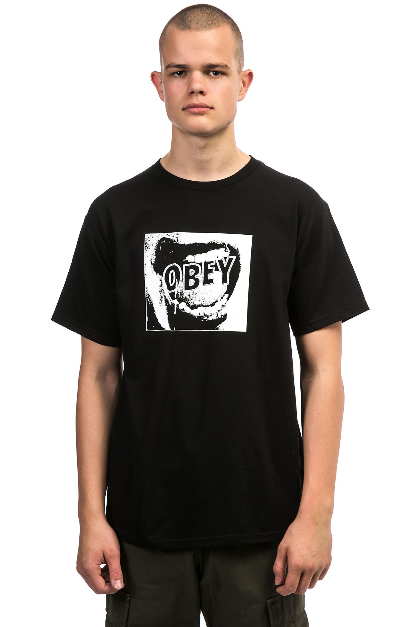 obey screamer t shirt black buy at skatedeluxe. Black Bedroom Furniture Sets. Home Design Ideas
