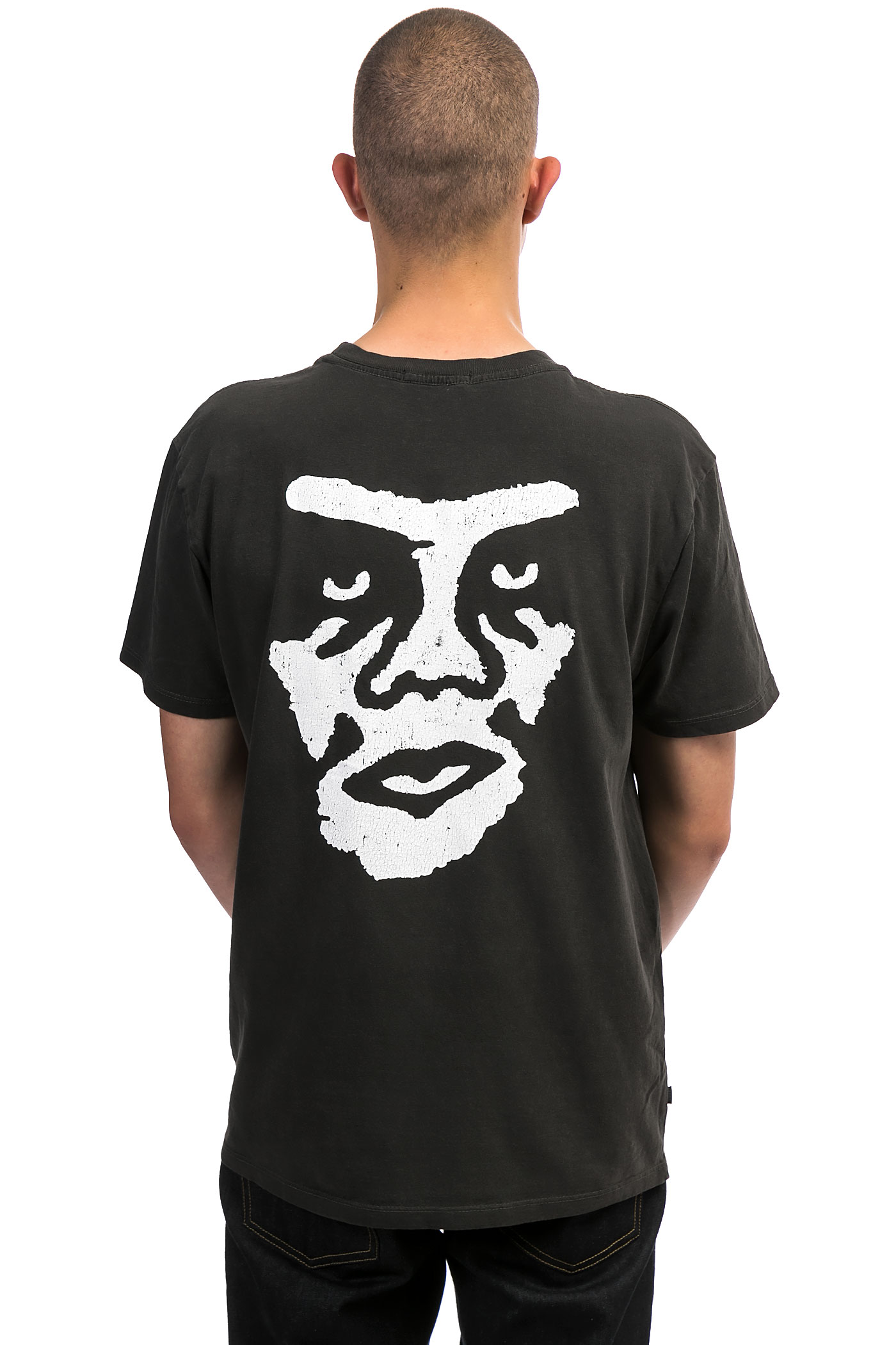Obey the creeper t shirt dusty black kaufen bei skatedeluxe for Black obey t shirt