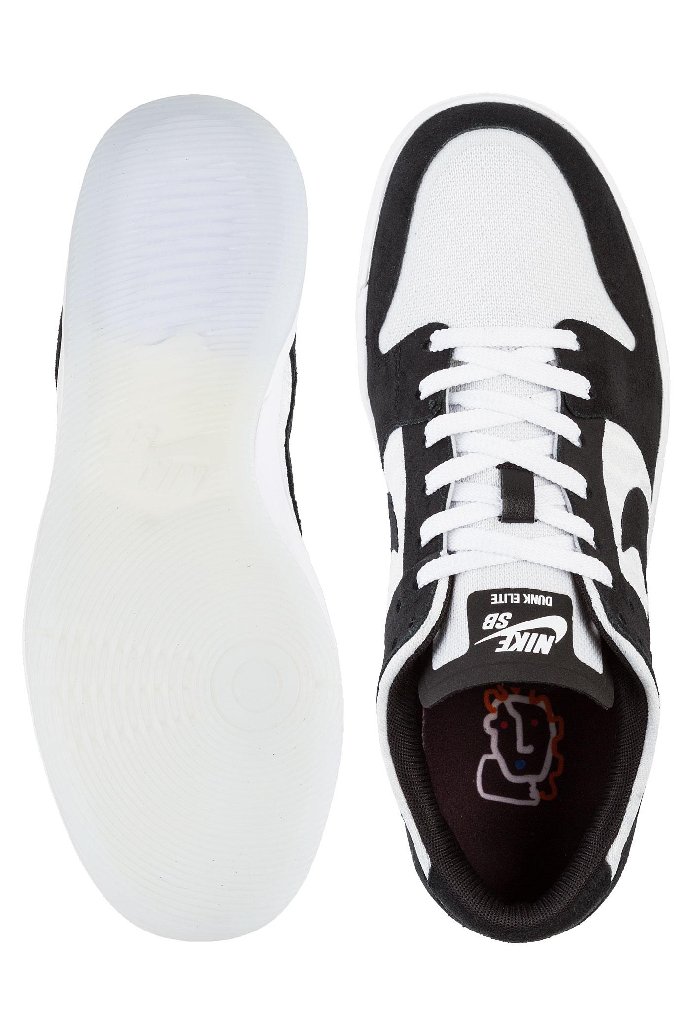 save off b5fdf 28920 ... inexpensive nike sb dunk low elite qs shoes oski black white 79254 88829