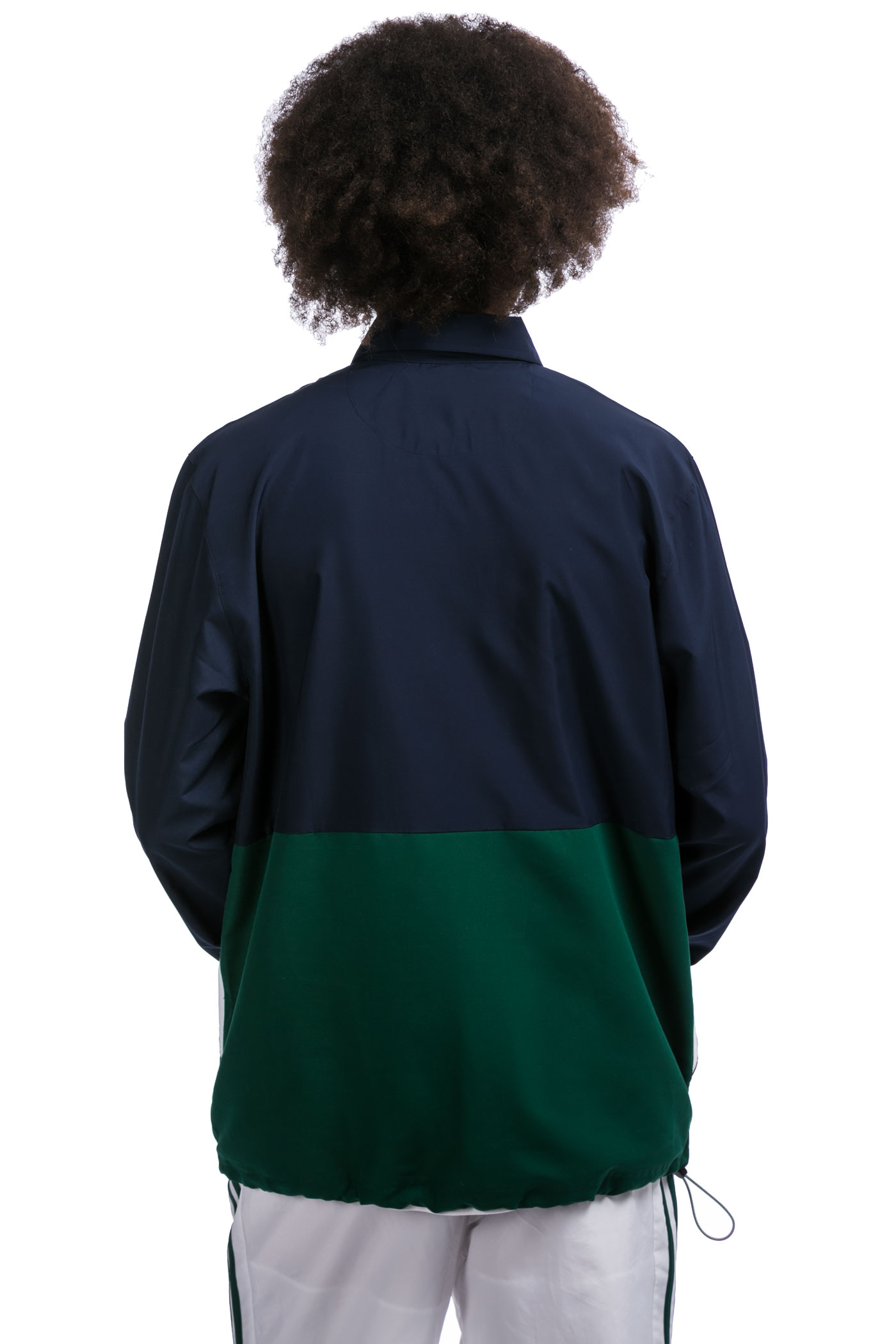adidas pullover coach jacket indigo green buy at skatedeluxe. Black Bedroom Furniture Sets. Home Design Ideas