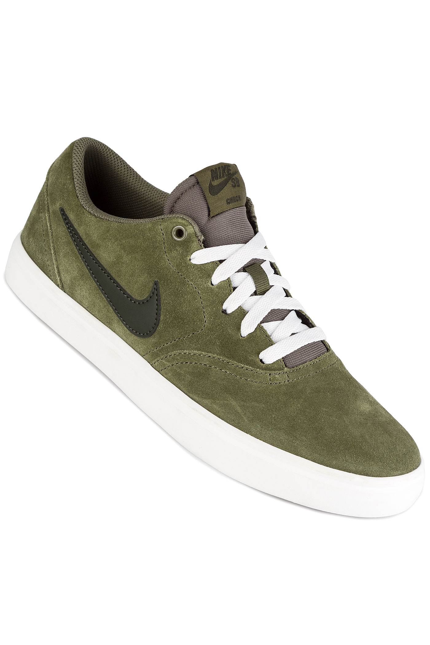 nike sb check solarsoft chaussure medium olive sequoia achetez sur skatedeluxe. Black Bedroom Furniture Sets. Home Design Ideas