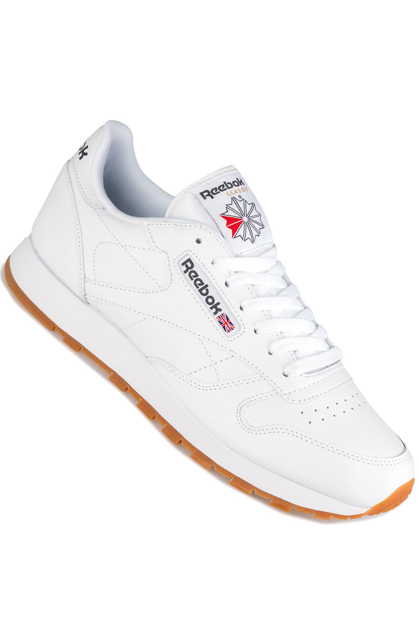 reebok classic leather chaussure white gum achetez sur skatedeluxe. Black Bedroom Furniture Sets. Home Design Ideas