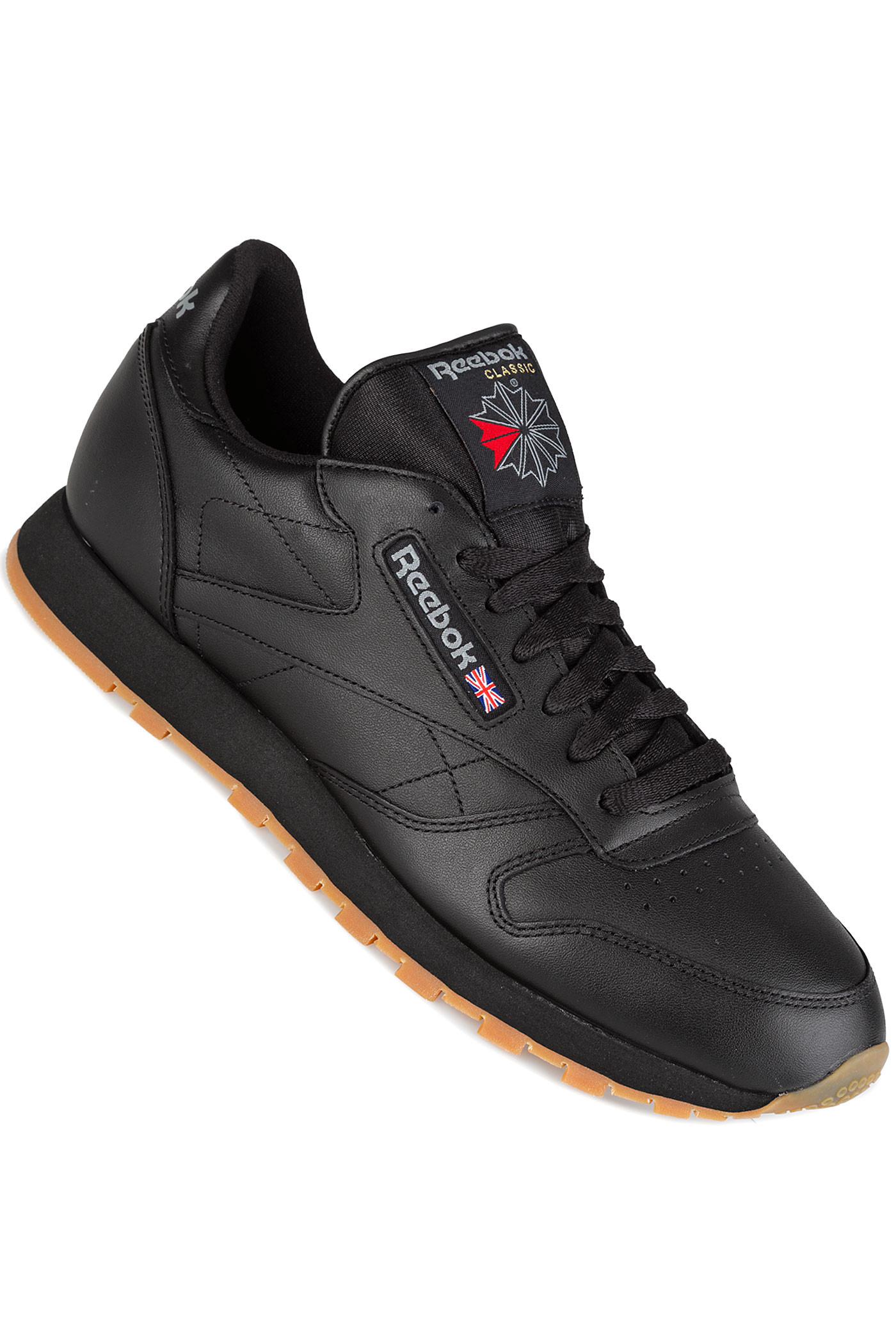 reebok classic leather chaussure black gum achetez sur skatedeluxe. Black Bedroom Furniture Sets. Home Design Ideas