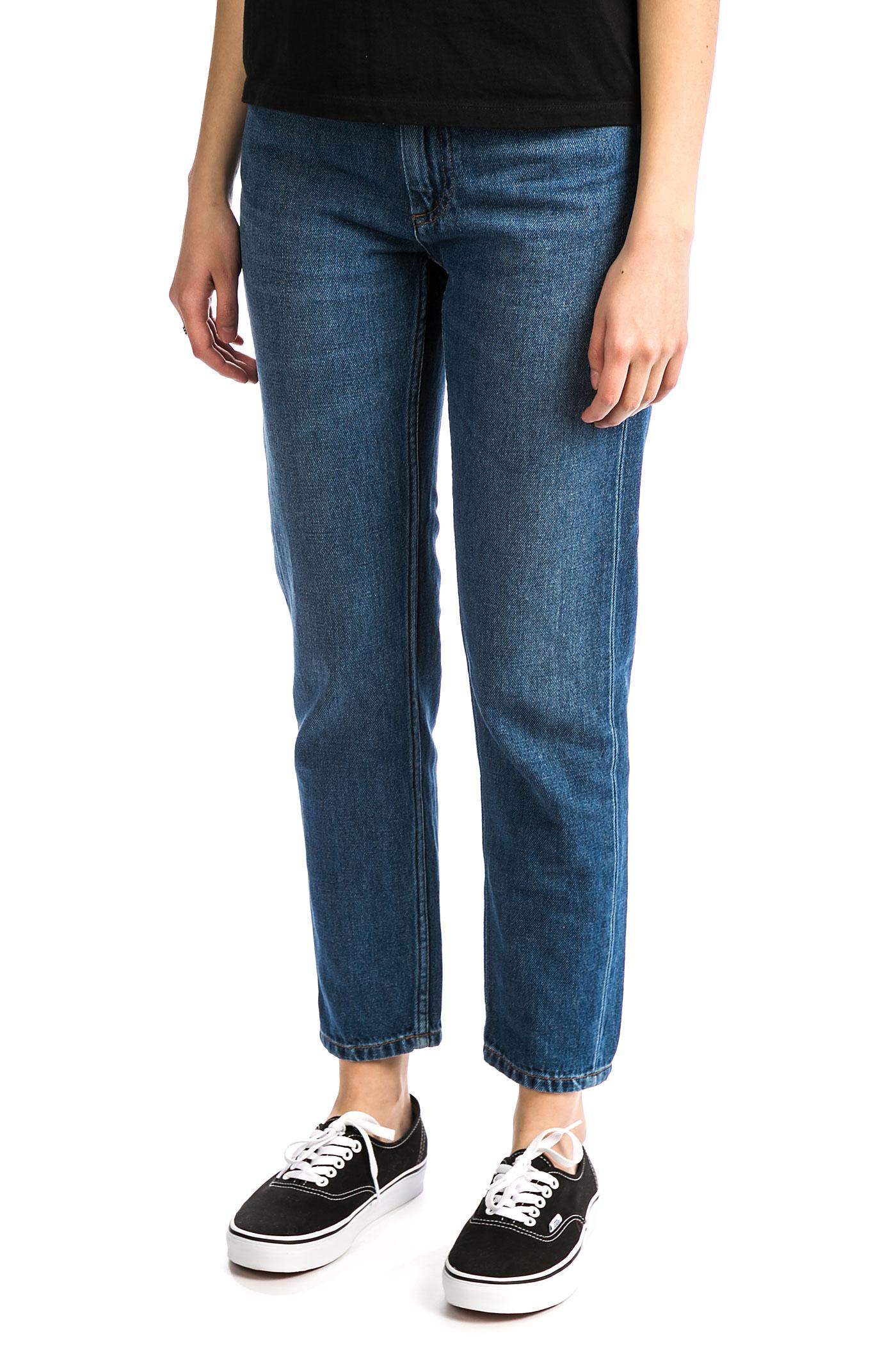 Carhartt WIP W' Page Carrot Ankle Pant Maverick Jeans women (blue dark stone washed) koop bij ...