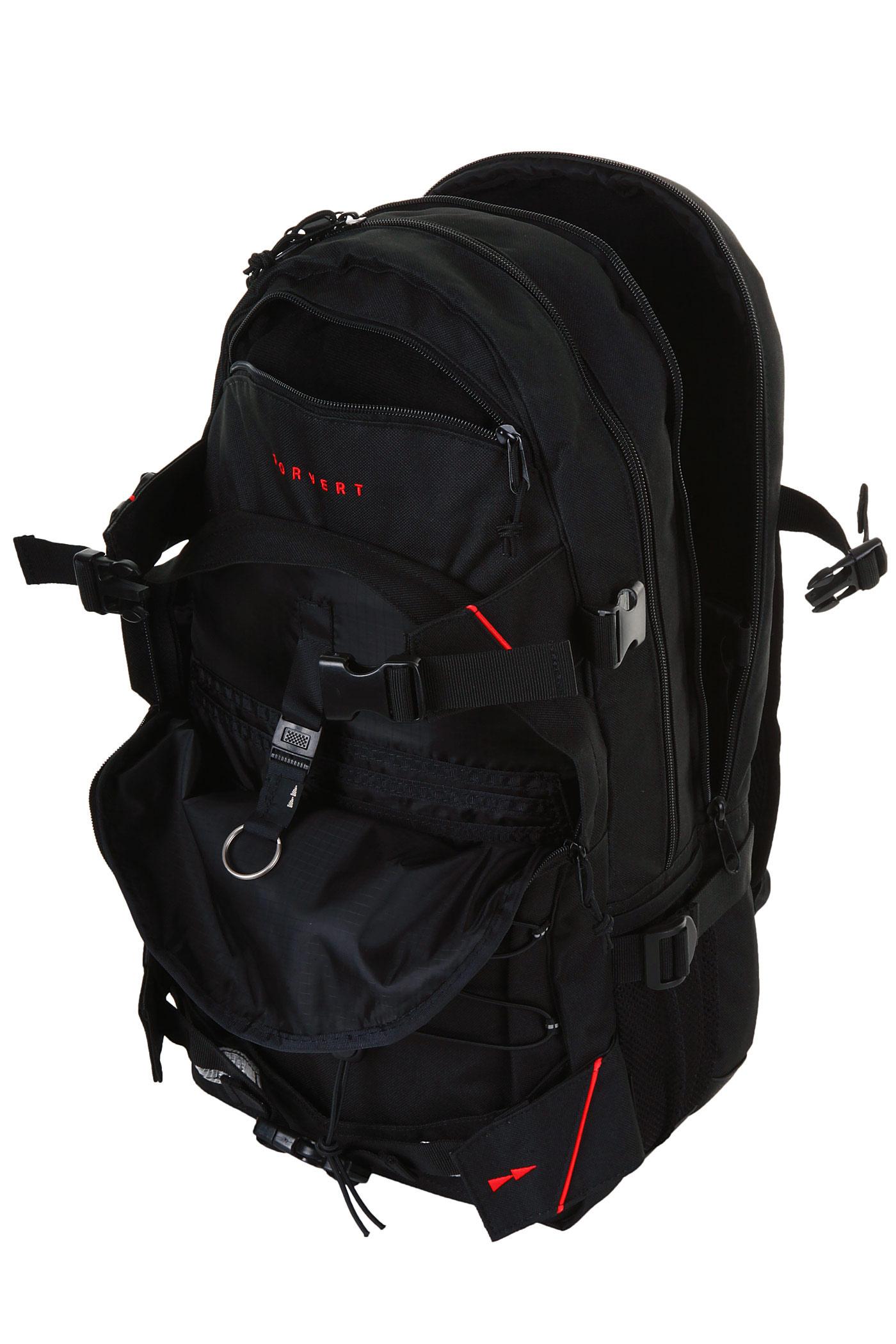 forvert laptop louis backpack 27l black buy at skatedeluxe. Black Bedroom Furniture Sets. Home Design Ideas