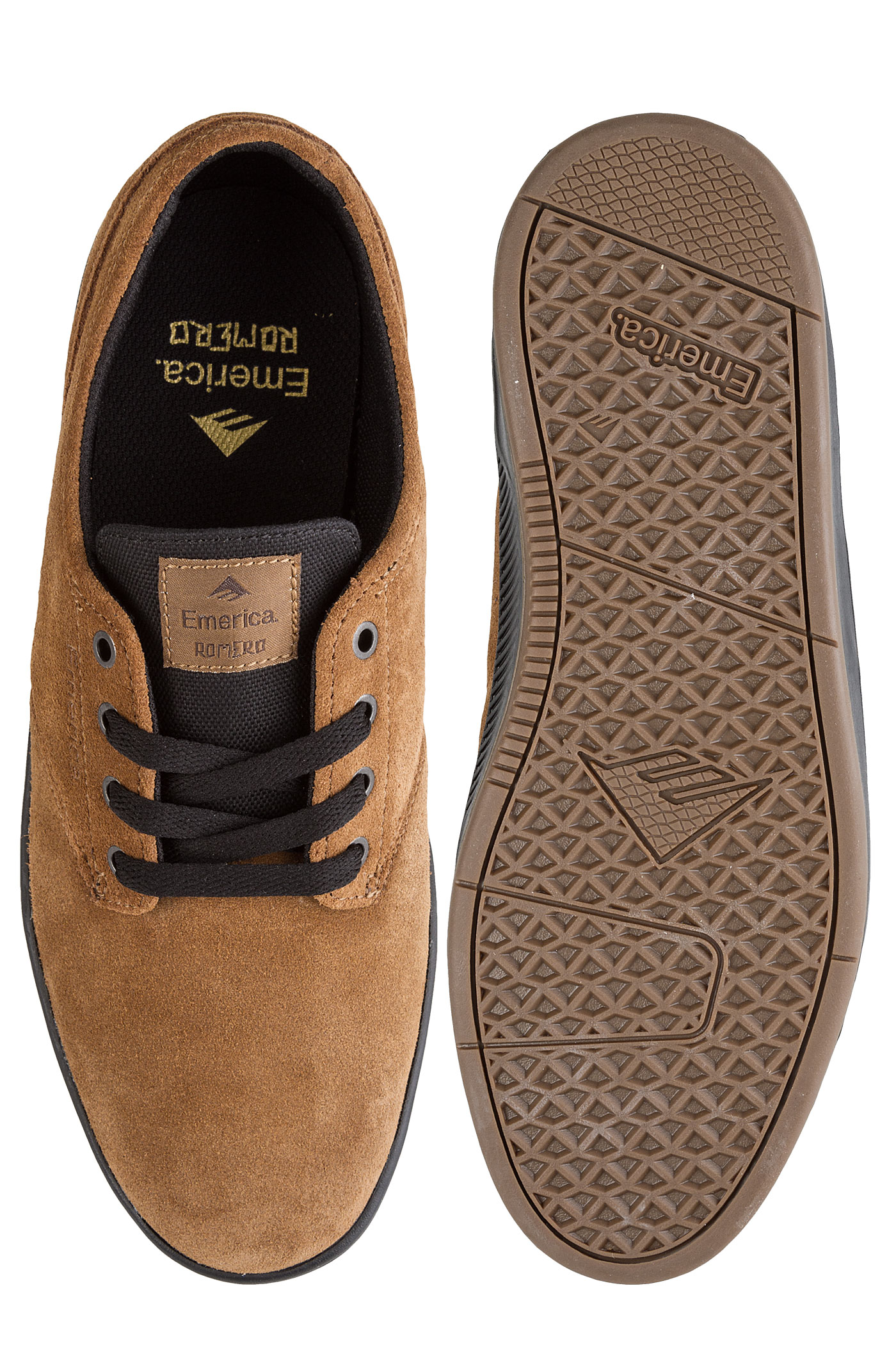 Laced Chaussuretan The Romero Black Emerica 4j35ARqL