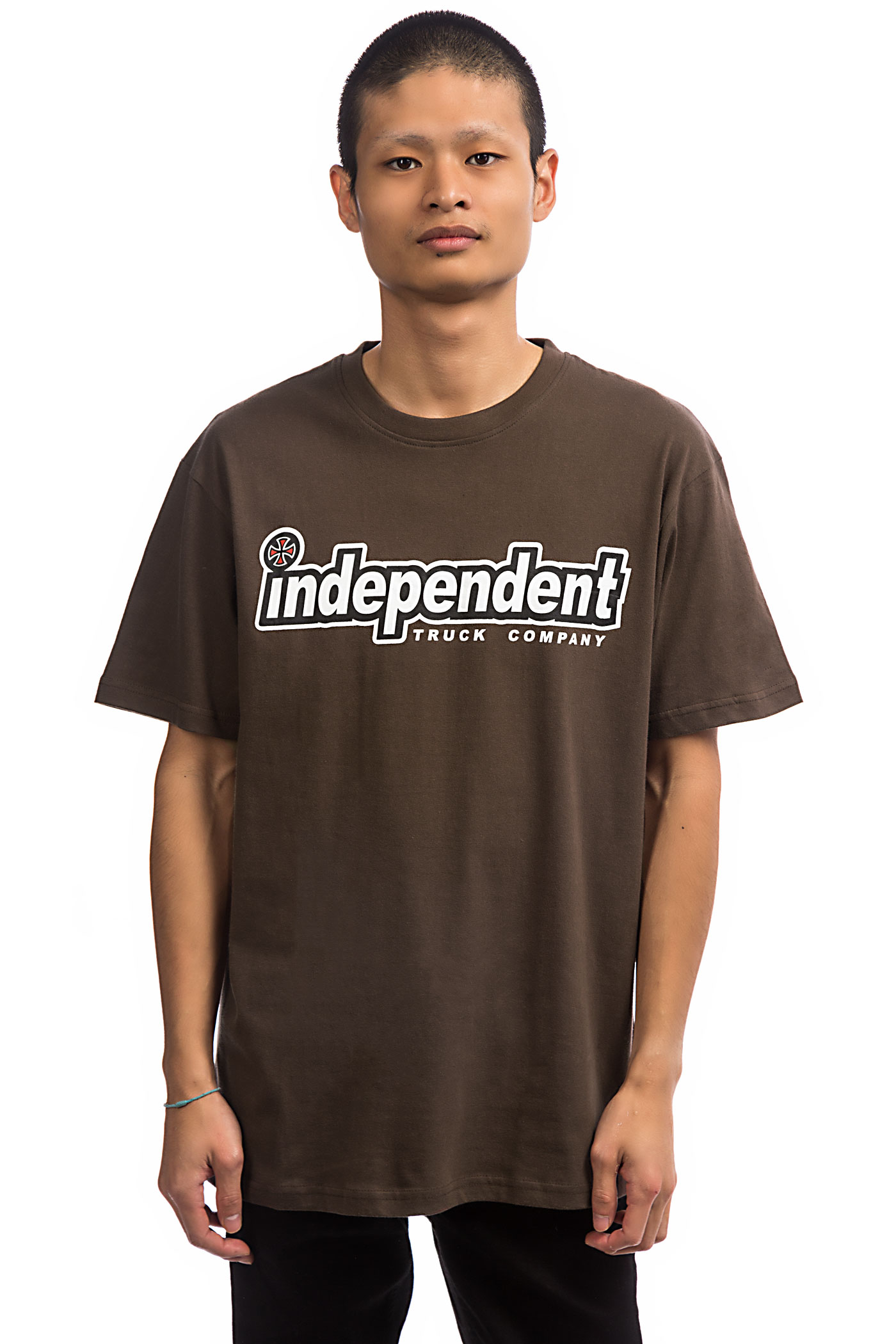 Independent T shirtdark Outline Chocolate Independent trCBdQxsh