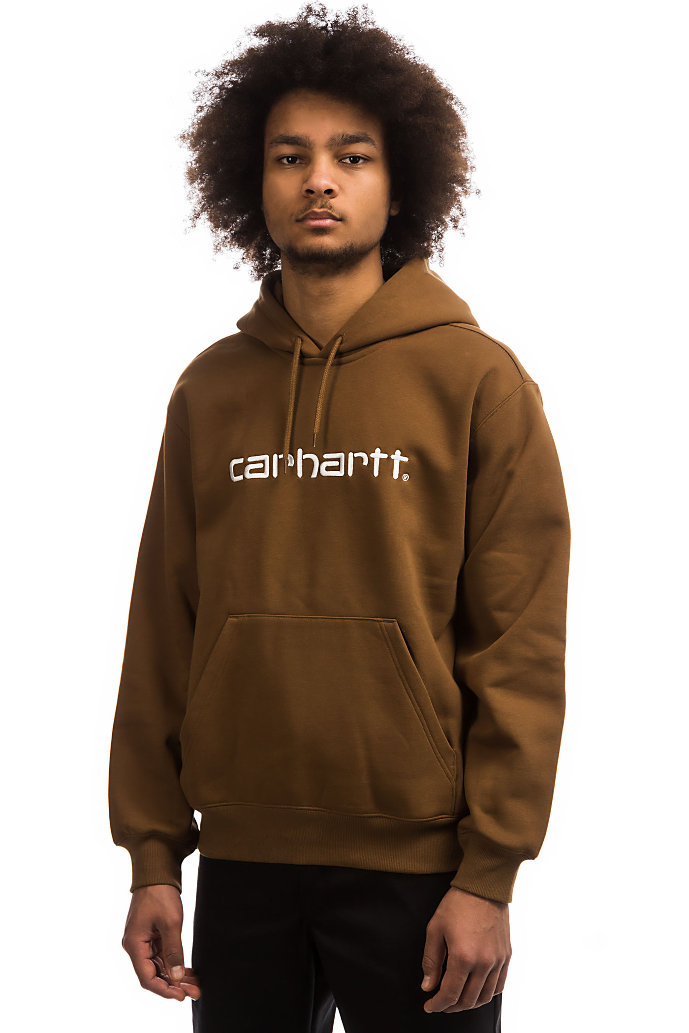 Carhartt À Sweat Capuchehamilton White Wip Brown Basic 4Ajq5cL3R