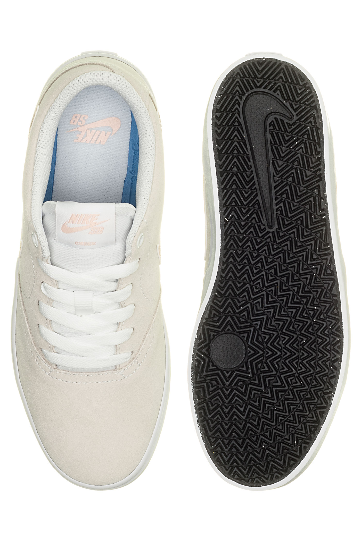 Sb Coral Washed Womenwhite Nike Check Solar Chaussure EYH29eWDI