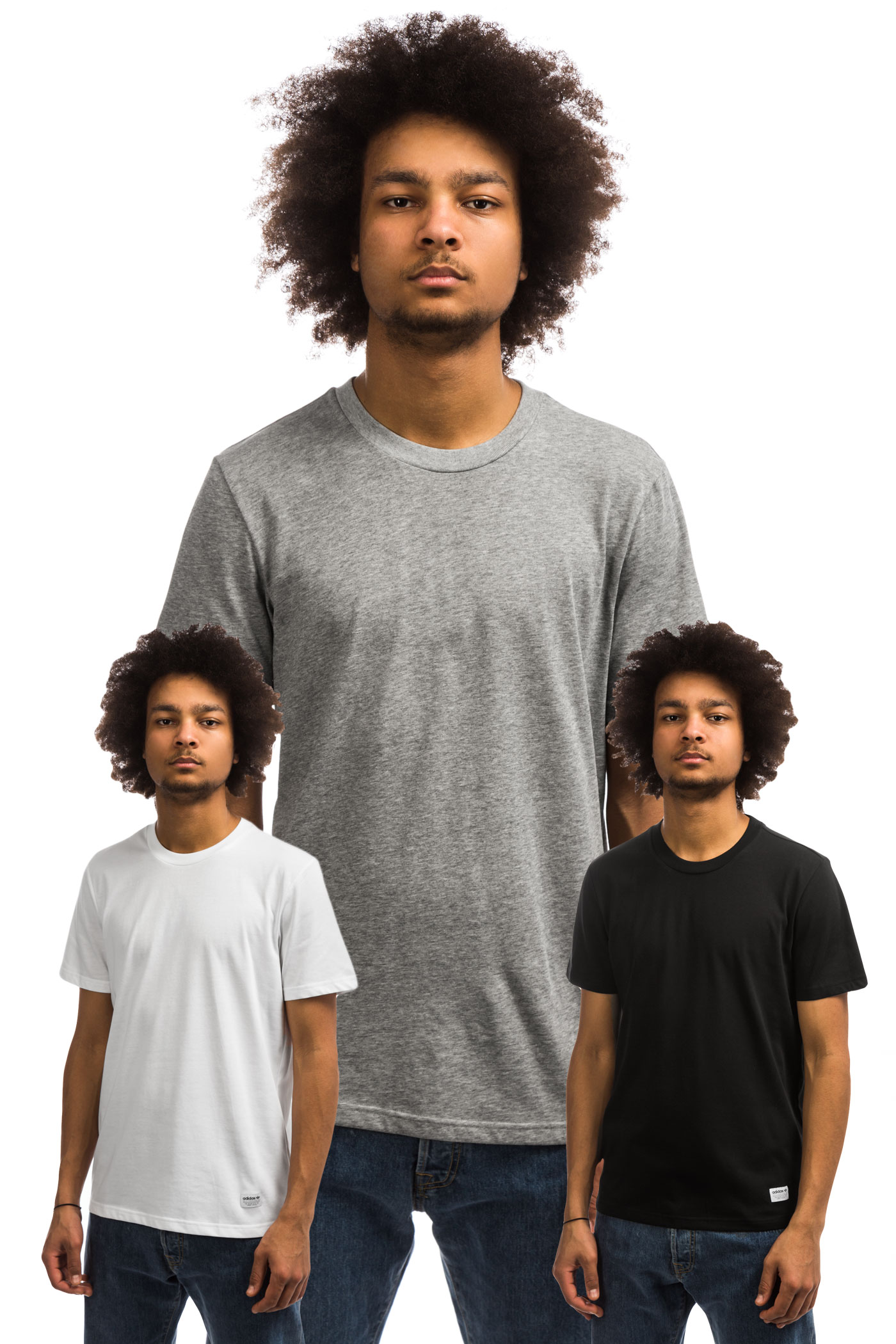 New T Adidas Packcore Black White Heather 3er shirt 4L5Rj3A