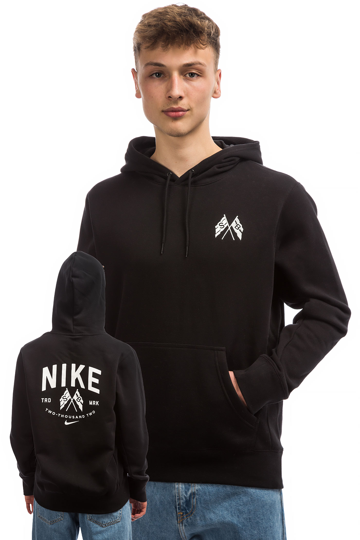 sweatshirt White Sb Avec Capuchonblack Nike Hooded Zip Summit Top kXiOuPZ