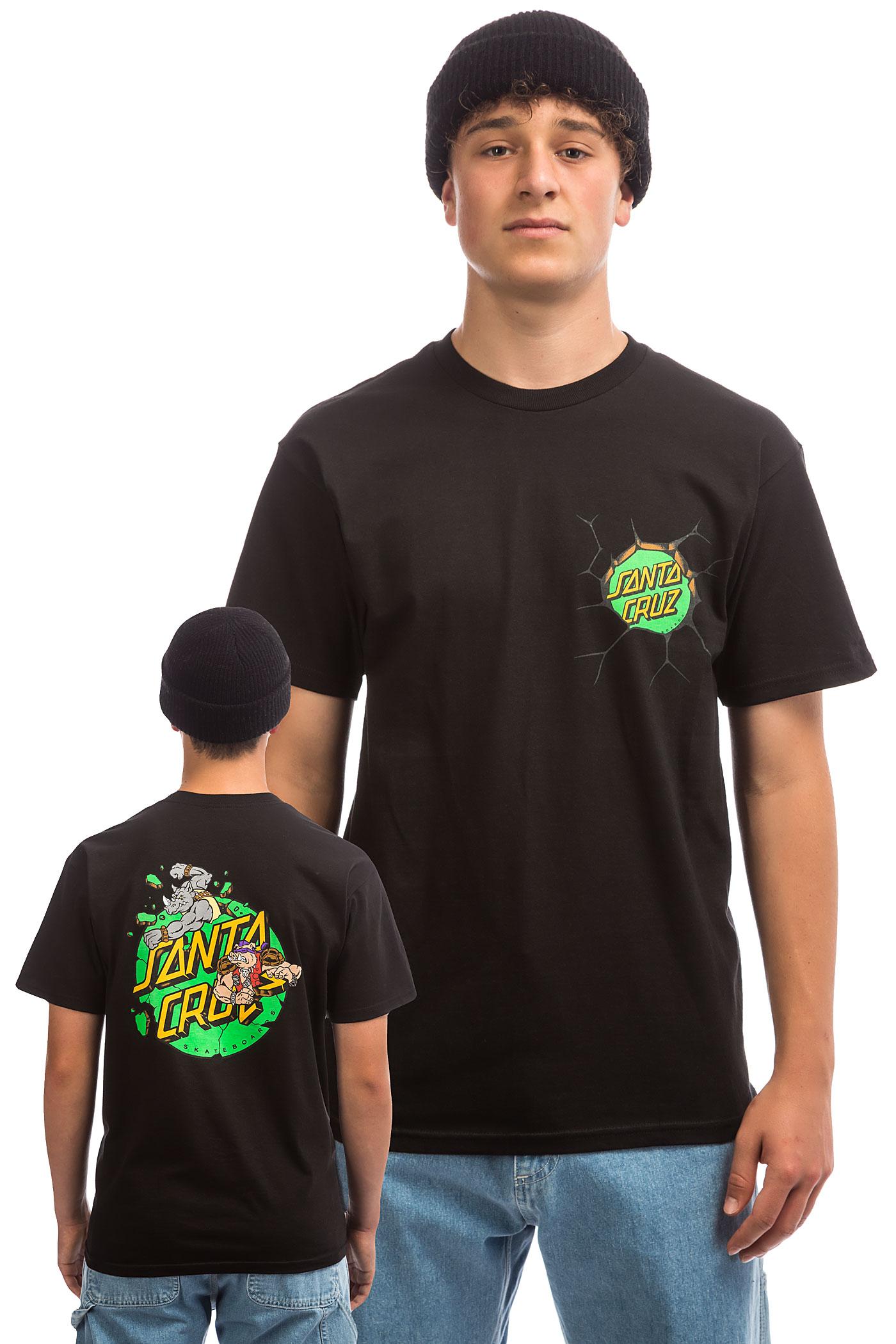 shirtblack Santa Cruz X Tmnt T And Bebop Rocksteady EDI2WH9