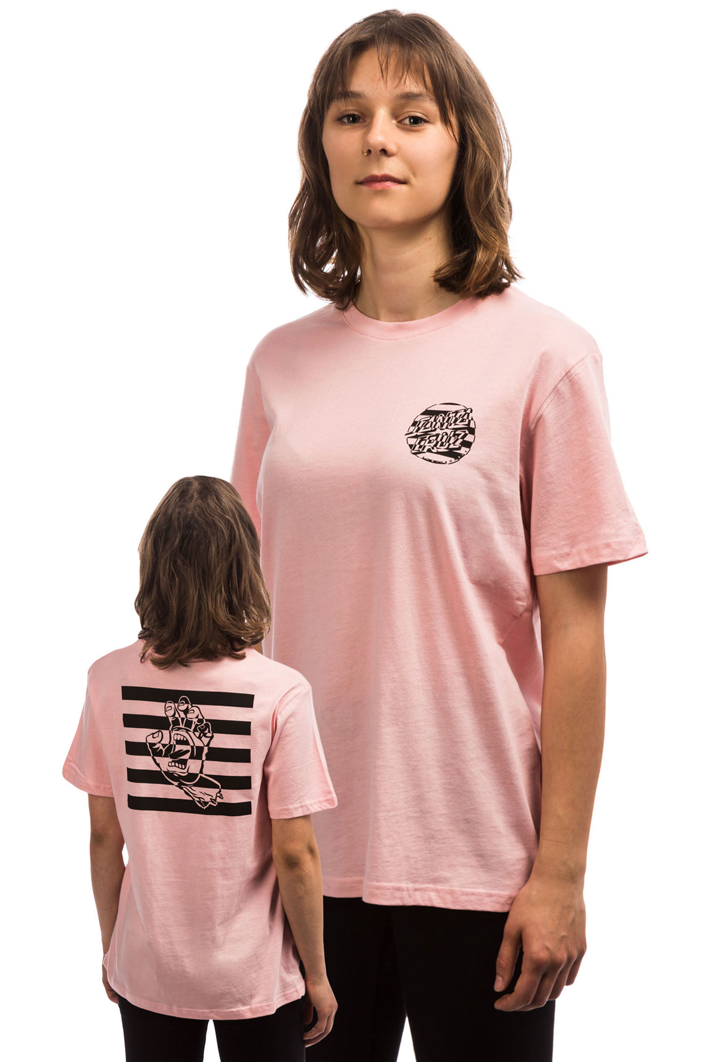 T Hand Santa Womencandy Pink Cruz Strobe shirt dtsrCxQBh