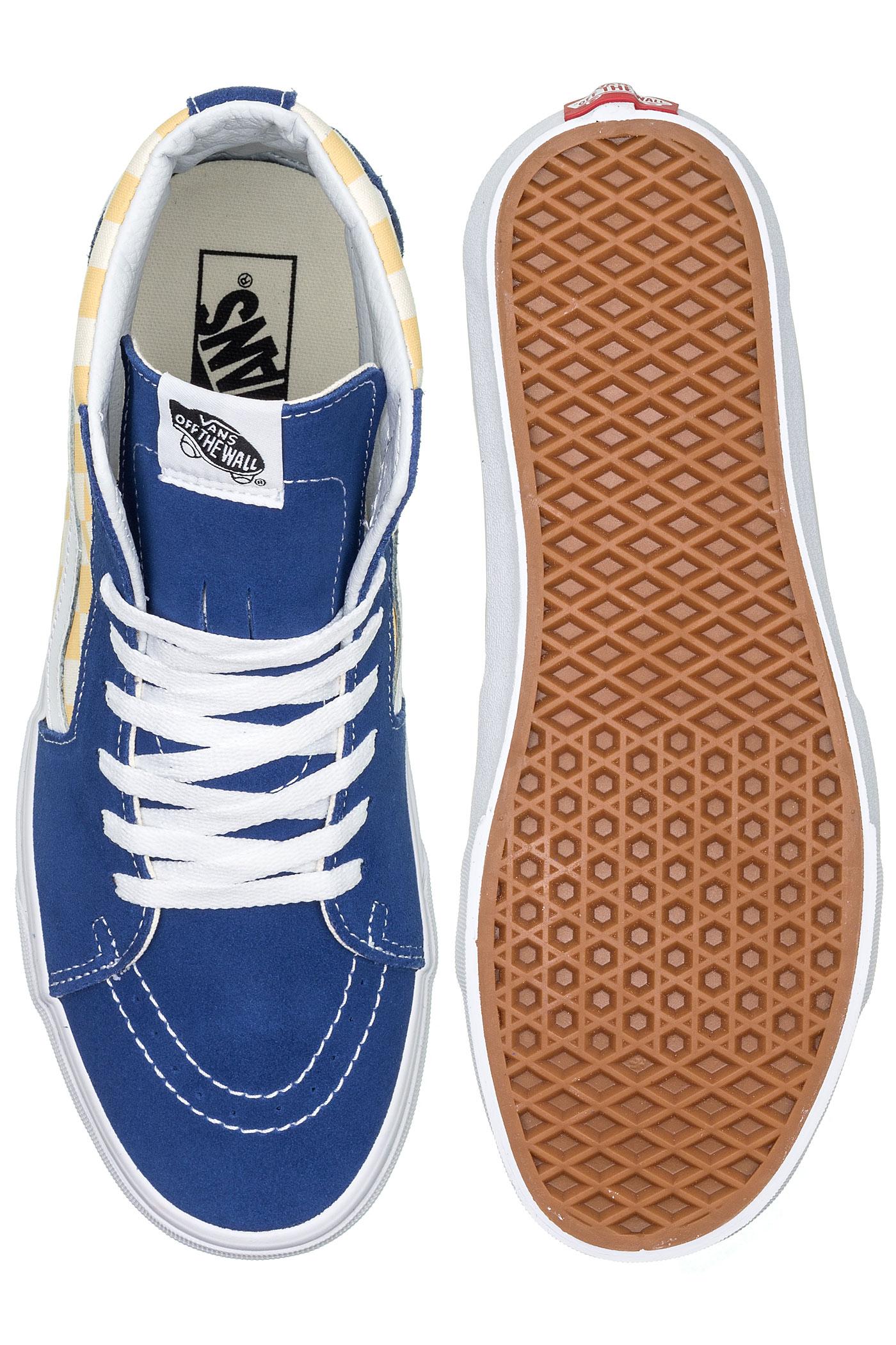 Vans Chaussurebmx Blue Checkerboard hi Sk8 GpUzVqMS