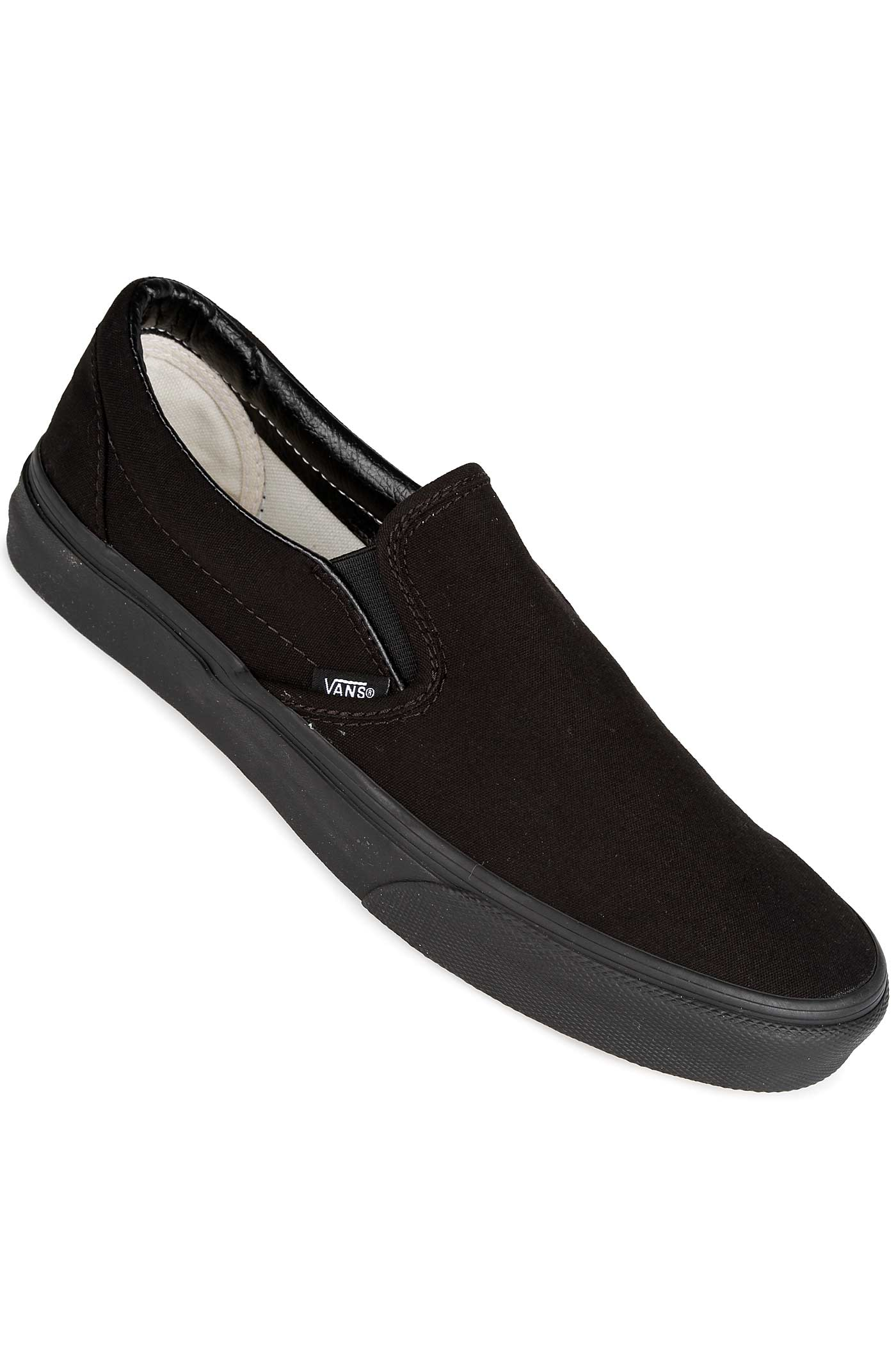 vans classic slip on chaussure black black achetez sur skatedeluxe. Black Bedroom Furniture Sets. Home Design Ideas