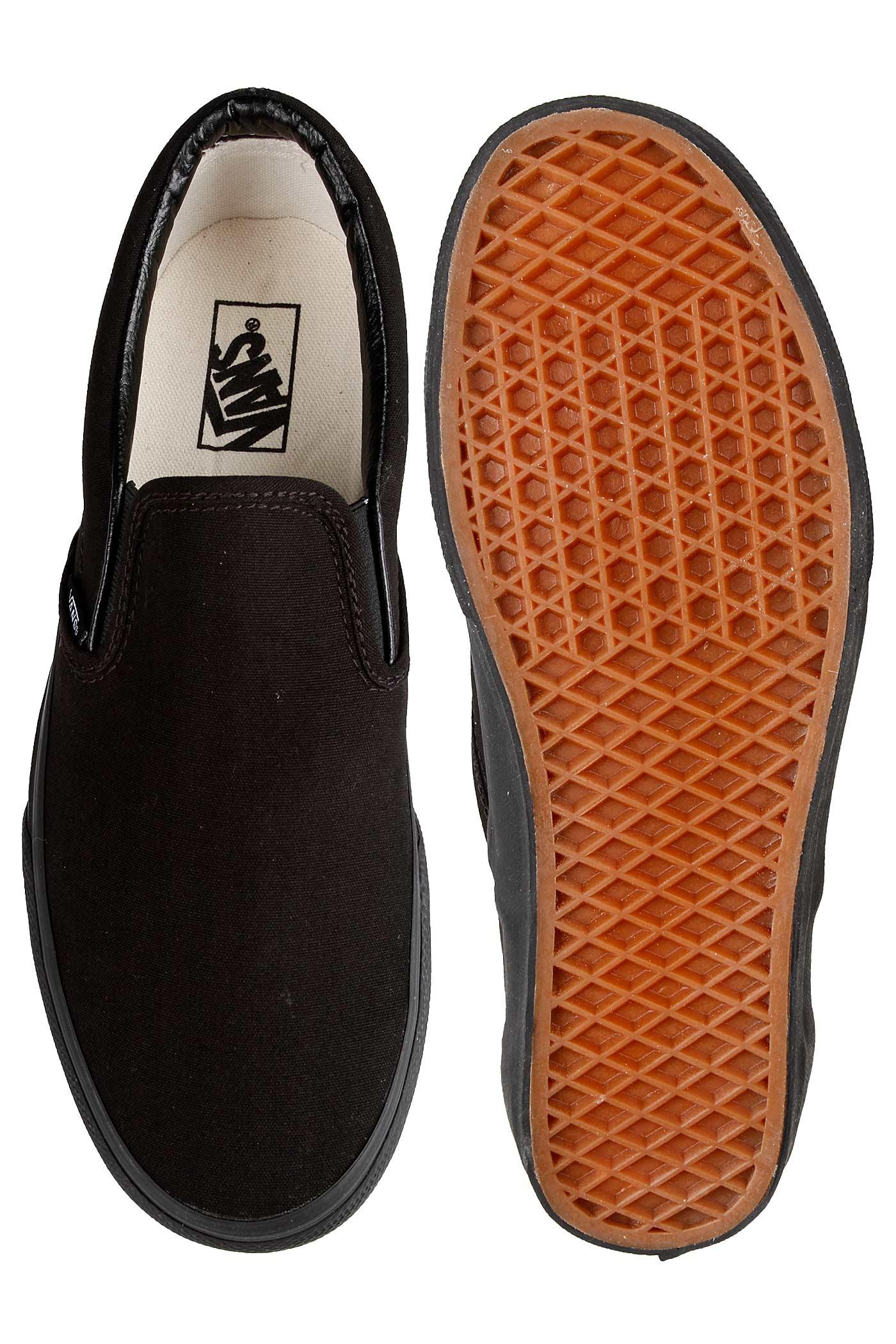 Black Vans Classic on Slip Chaussureblack UpzMVGqS