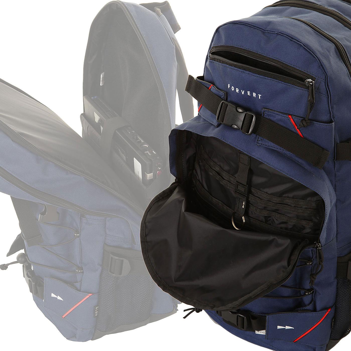 forvert laptop louis backpack 27l navy buy at skatedeluxe. Black Bedroom Furniture Sets. Home Design Ideas
