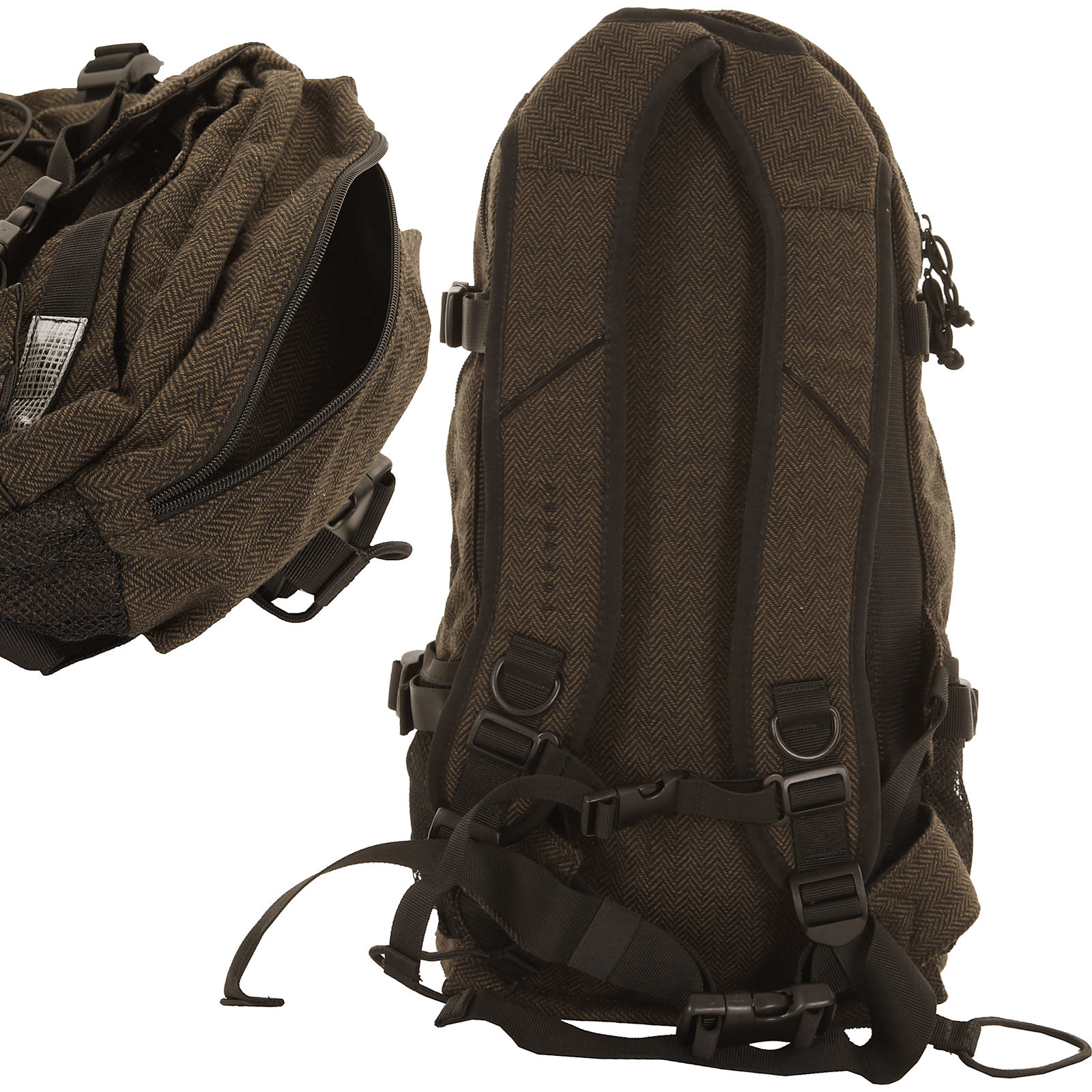 forvert new louis backpack 20l flannel brown buy at skatedeluxe. Black Bedroom Furniture Sets. Home Design Ideas