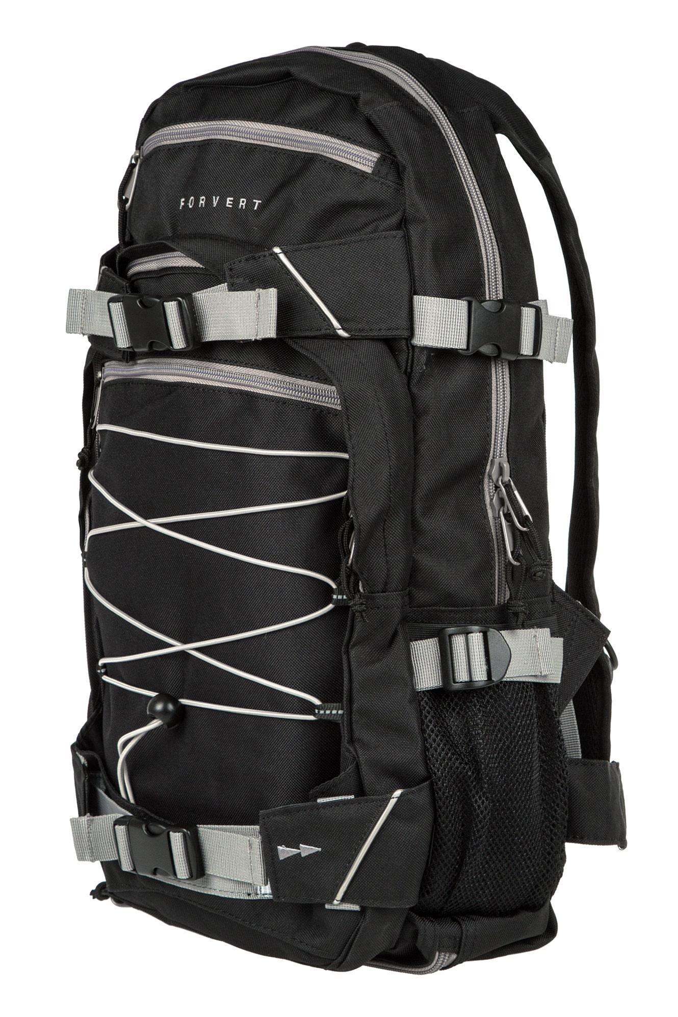 forvert ice louis backpack 20l black grey buy at skatedeluxe. Black Bedroom Furniture Sets. Home Design Ideas