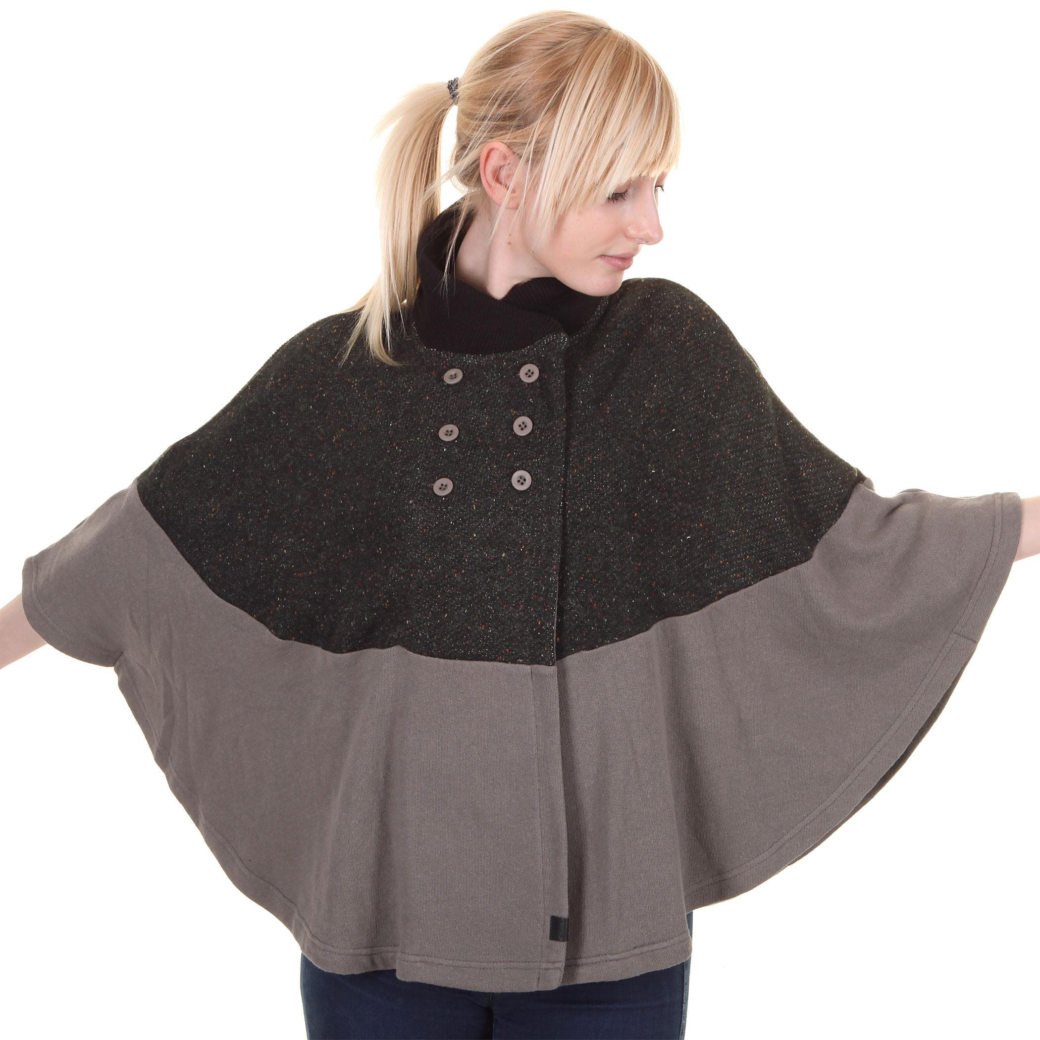 Poncho Vans franny poncho jacket women (dark gull grey) buy at ...