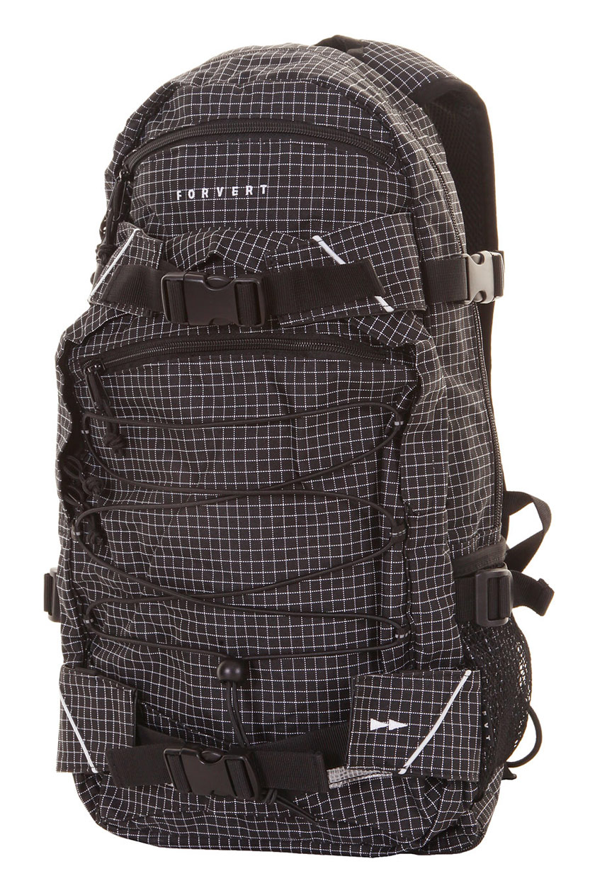forvert new louis backpack 20l small black checked buy at skatedeluxe. Black Bedroom Furniture Sets. Home Design Ideas