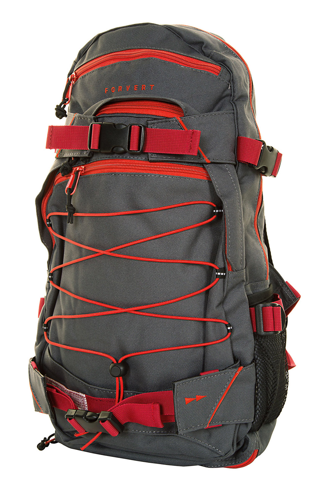 forvert ice louis backpack 20l grey red buy at skatedeluxe. Black Bedroom Furniture Sets. Home Design Ideas