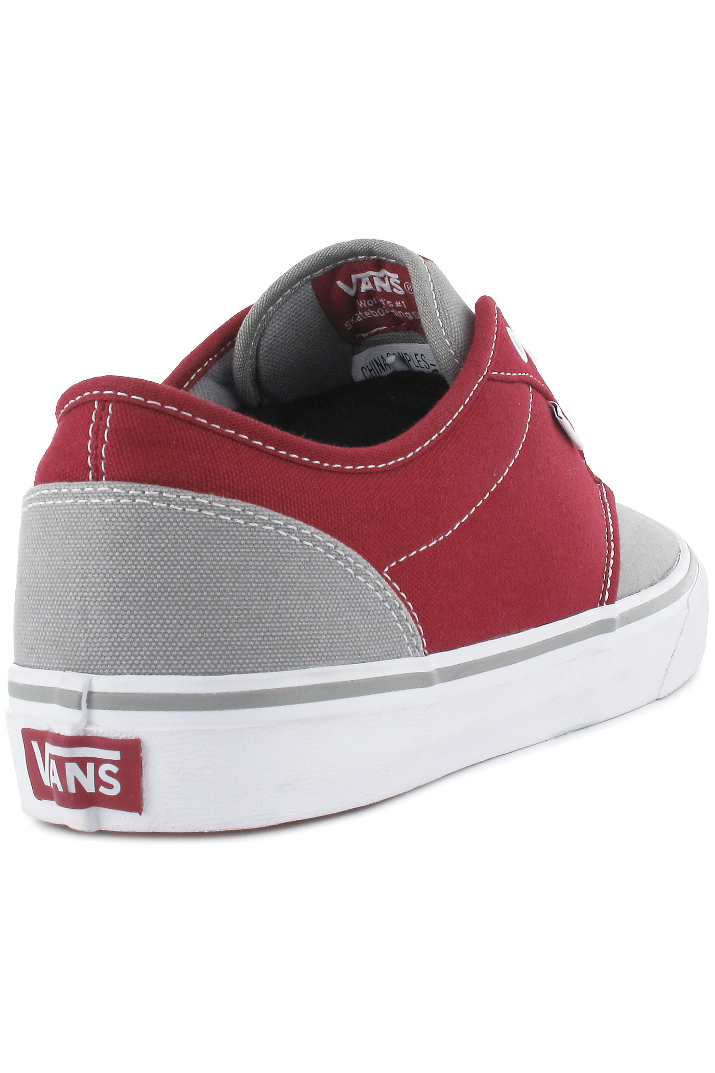 vans atwood red grey