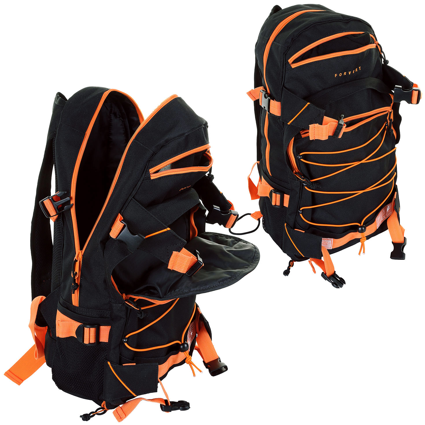 forvert ice louis backpack 20l black orange achetez sur. Black Bedroom Furniture Sets. Home Design Ideas