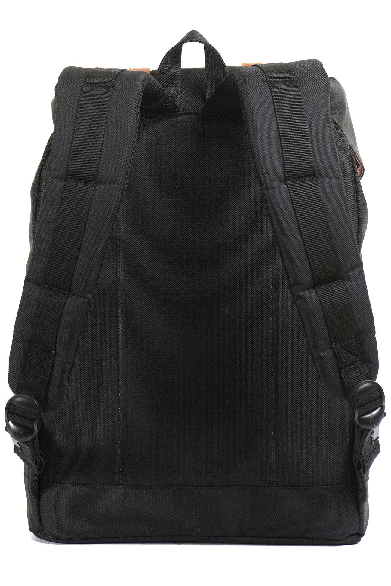 herschel retreat backpack 19 5l black tan buy at skatedeluxe. Black Bedroom Furniture Sets. Home Design Ideas