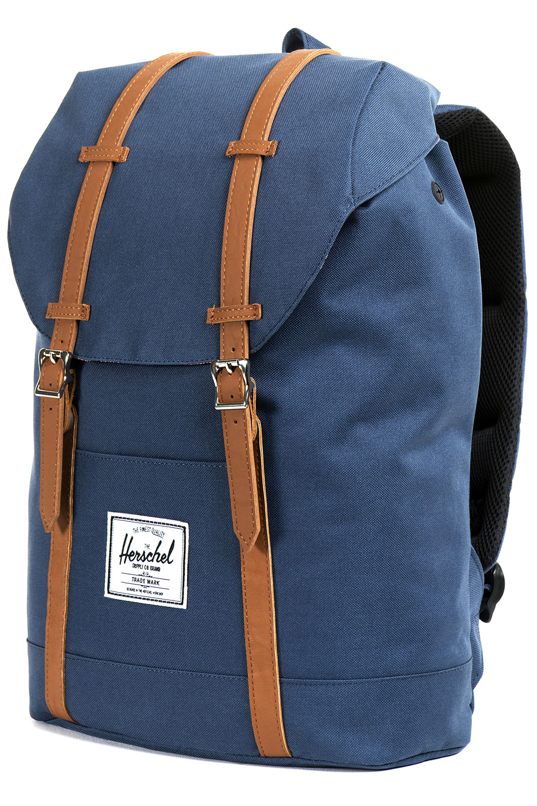 herschel retreat backpack 19 5l navy tan buy at skatedeluxe. Black Bedroom Furniture Sets. Home Design Ideas
