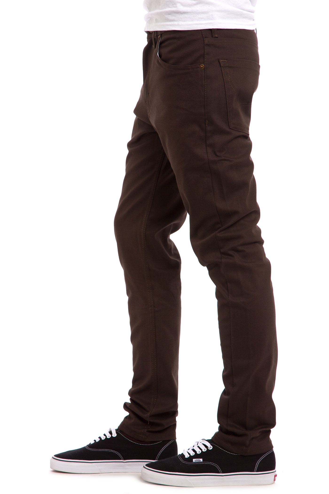Dickies Slim Skinny Pants (dark brown) buy at skatedeluxe