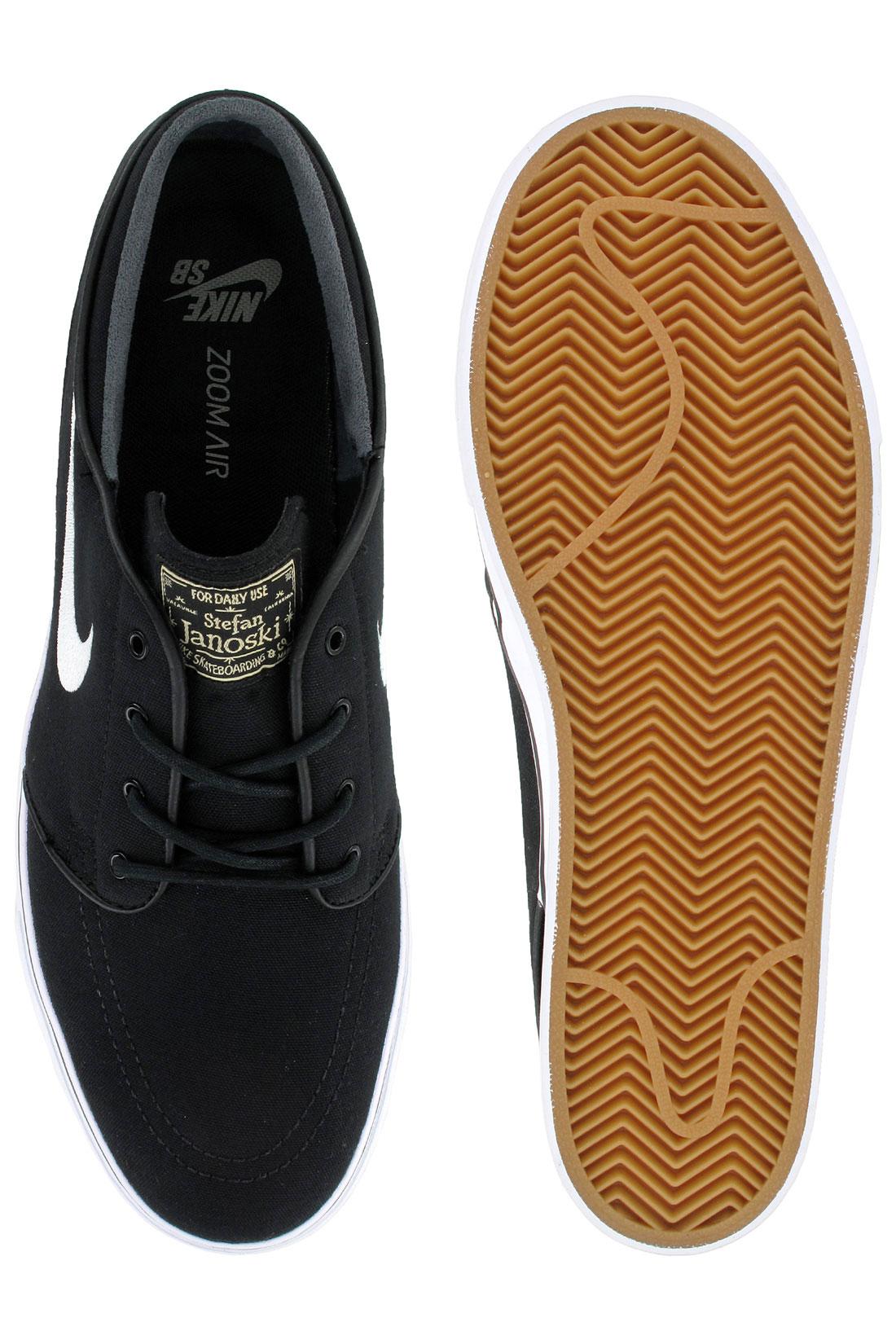 2179012a6eacfb ... Nike SB Zoom Stefan Janoski Canvas Shoe (black white gum light brown)  ...