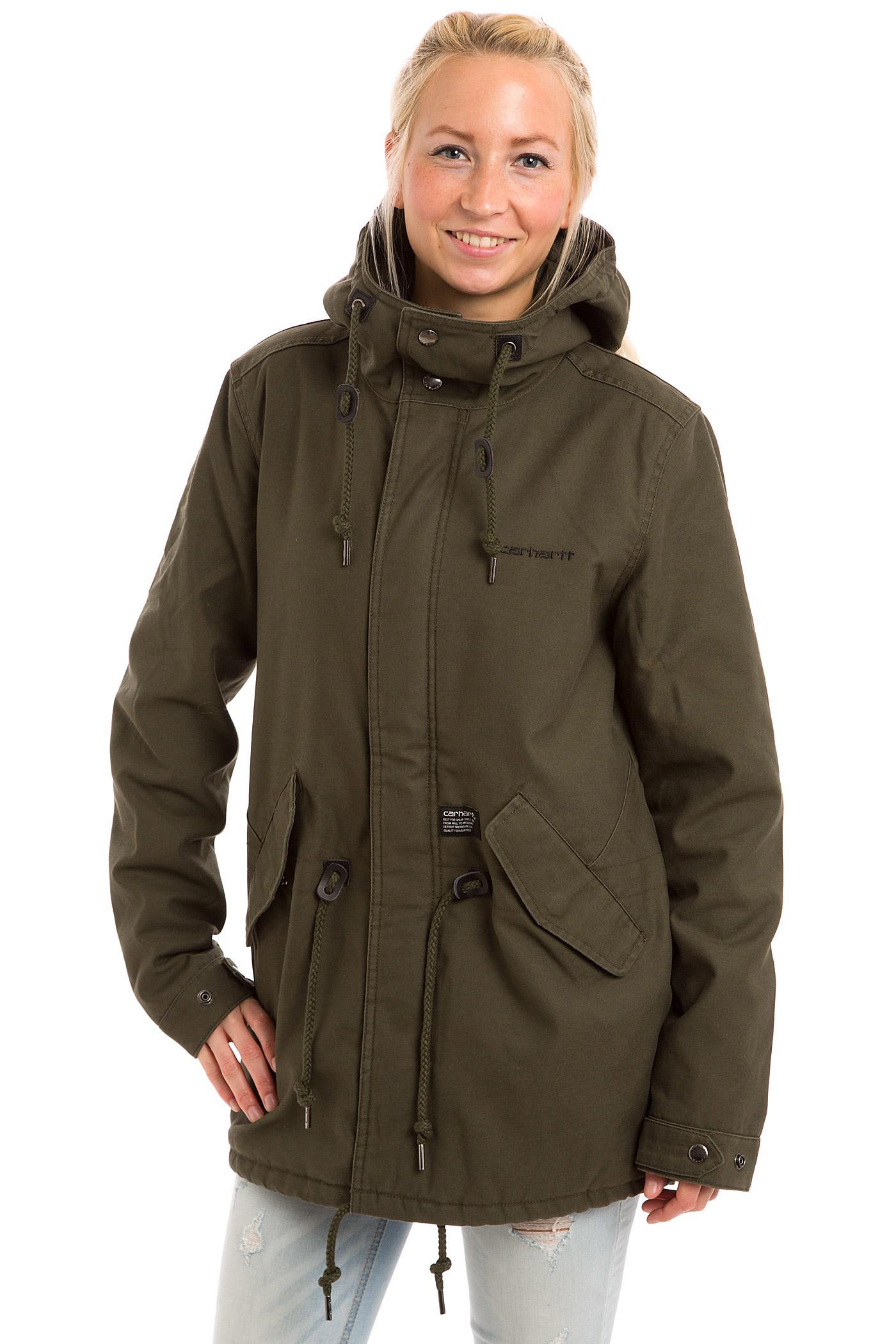 carhartt wip clash parka jacket women cypress buy at. Black Bedroom Furniture Sets. Home Design Ideas