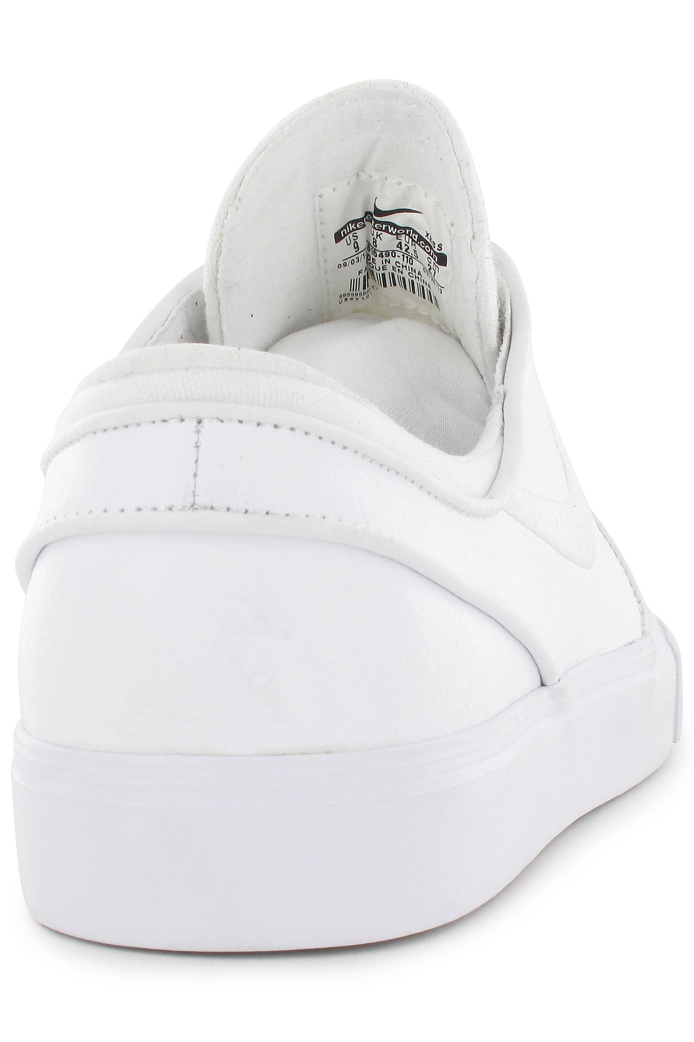487b7cf9d2d ... Nike SB Zoom Stefan Janoski Leather Shoes (white white wolf grey)
