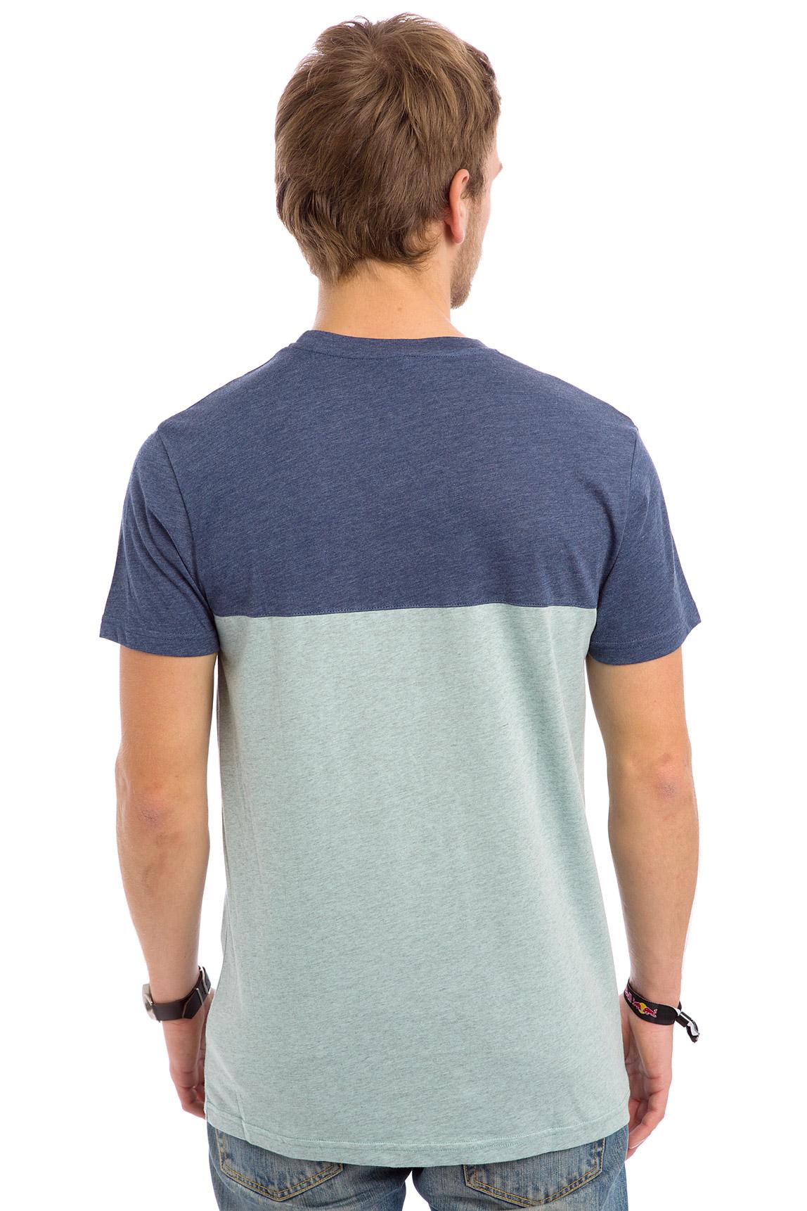 iriedaily block pocket t shirt mintgrey buy at skatedeluxe. Black Bedroom Furniture Sets. Home Design Ideas