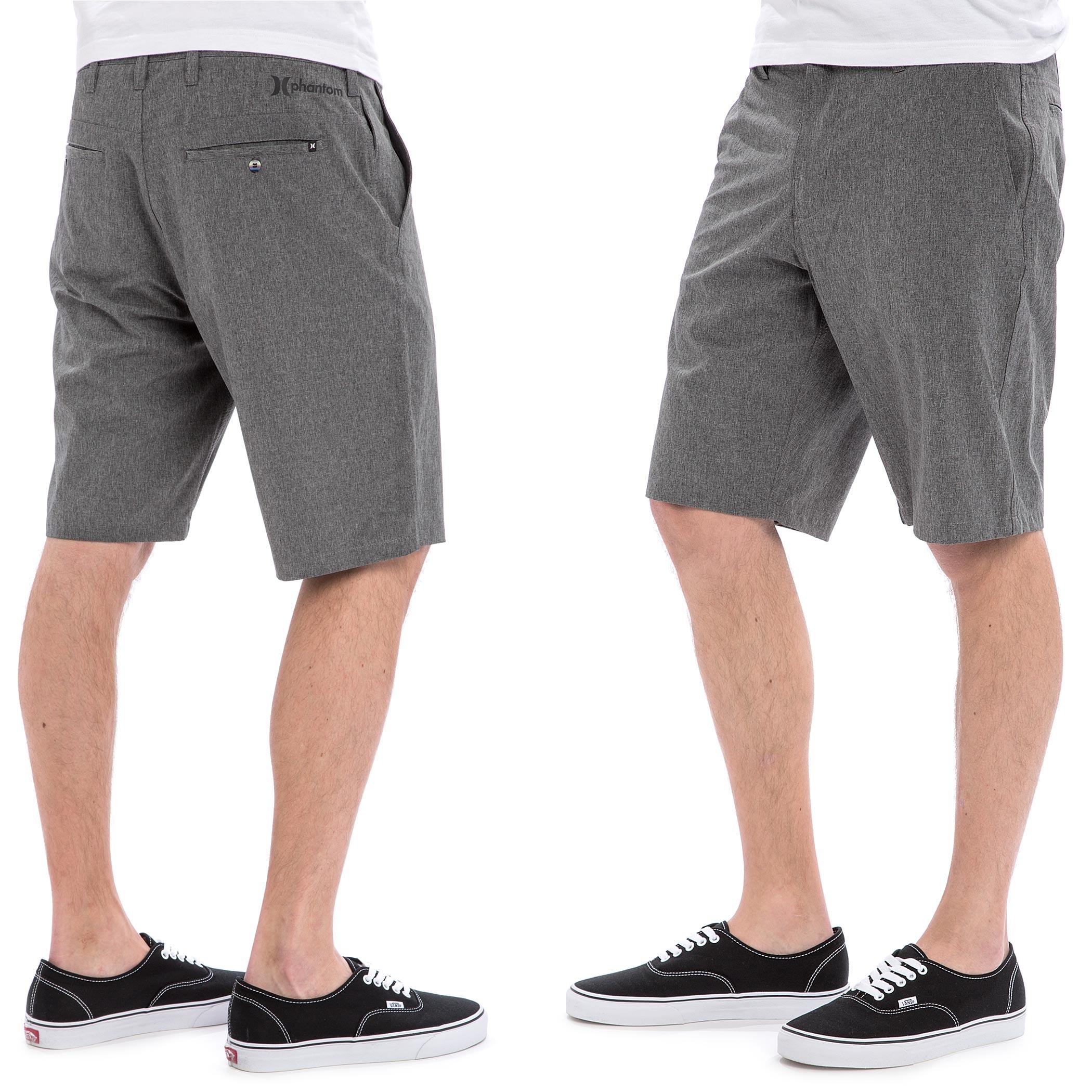 Hurley Phantom Boardwalk Shorts (heather black) buy at skatedeluxe 6b6121ddb973