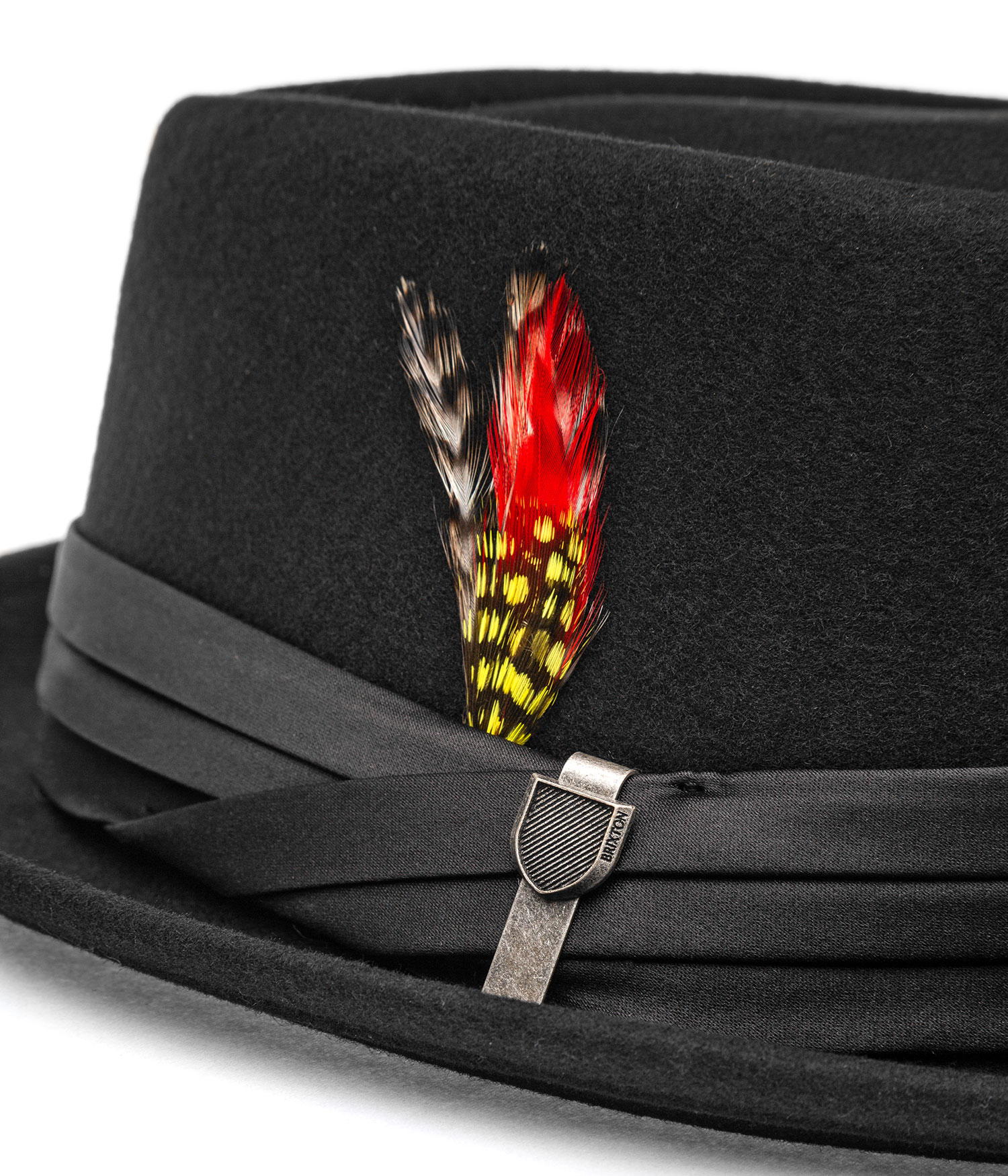 brixton stout pork pie chapeau black black achetez sur skatedeluxe. Black Bedroom Furniture Sets. Home Design Ideas